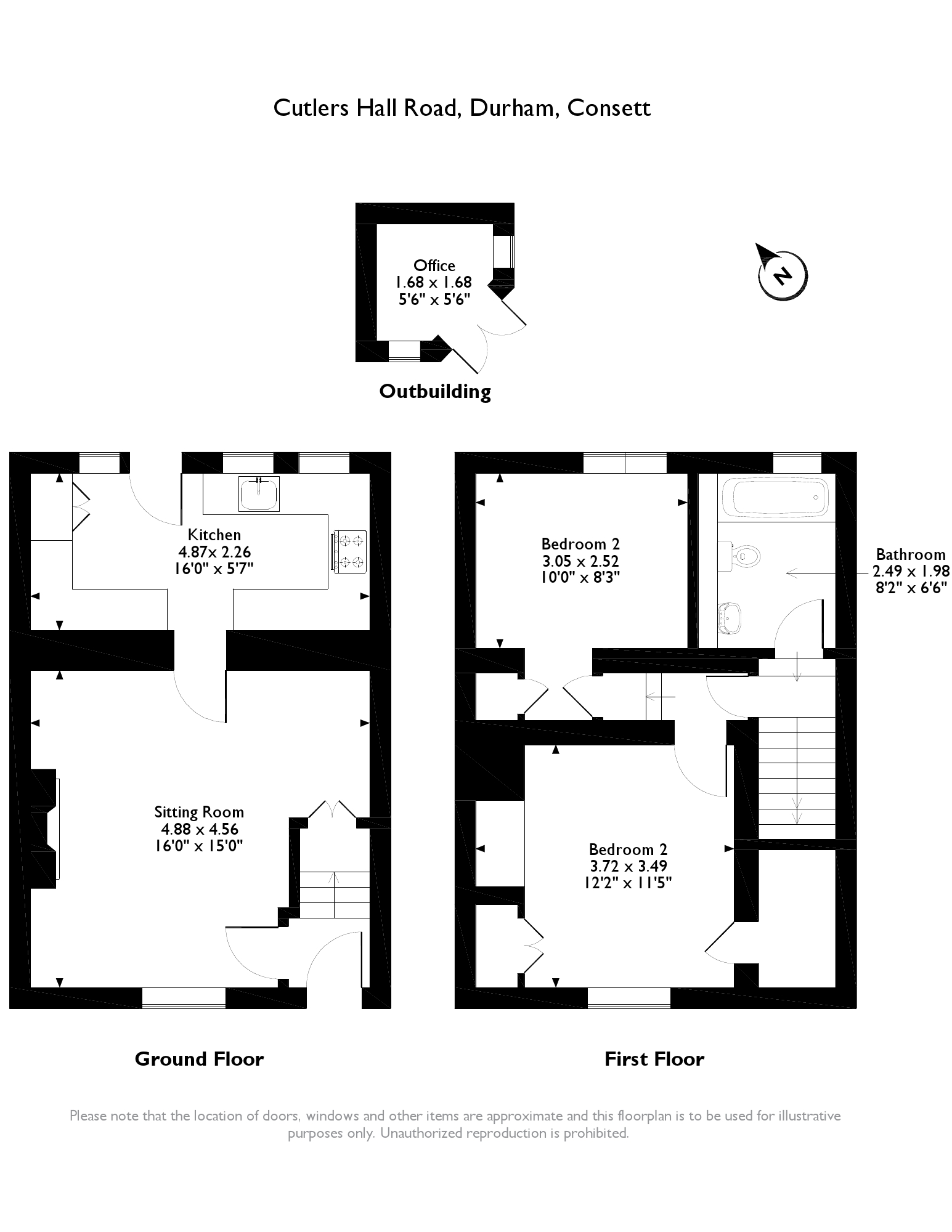 Cutlers Hall Road,Consett, Durham,DH8 floor plan