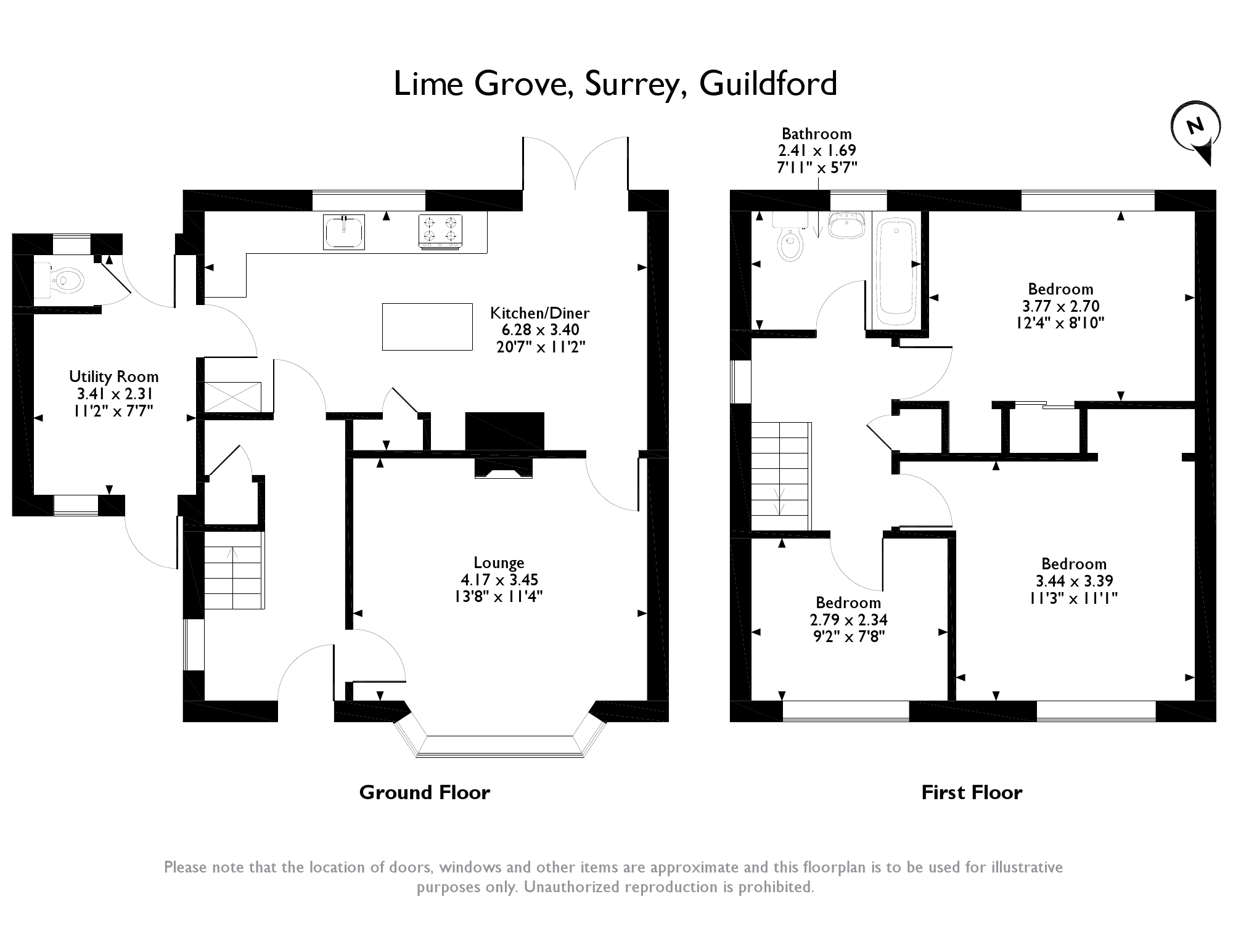 Lime Grove,Guildford, Surrey floor plan