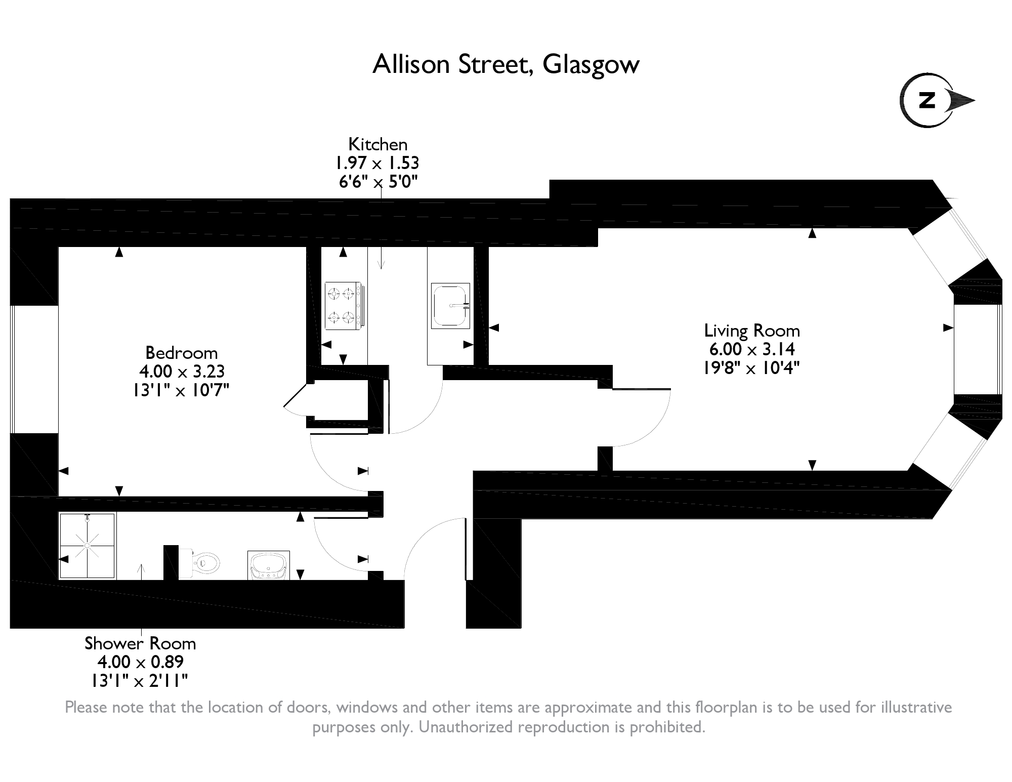 Allison Street, Glasgow, G42 floor plan