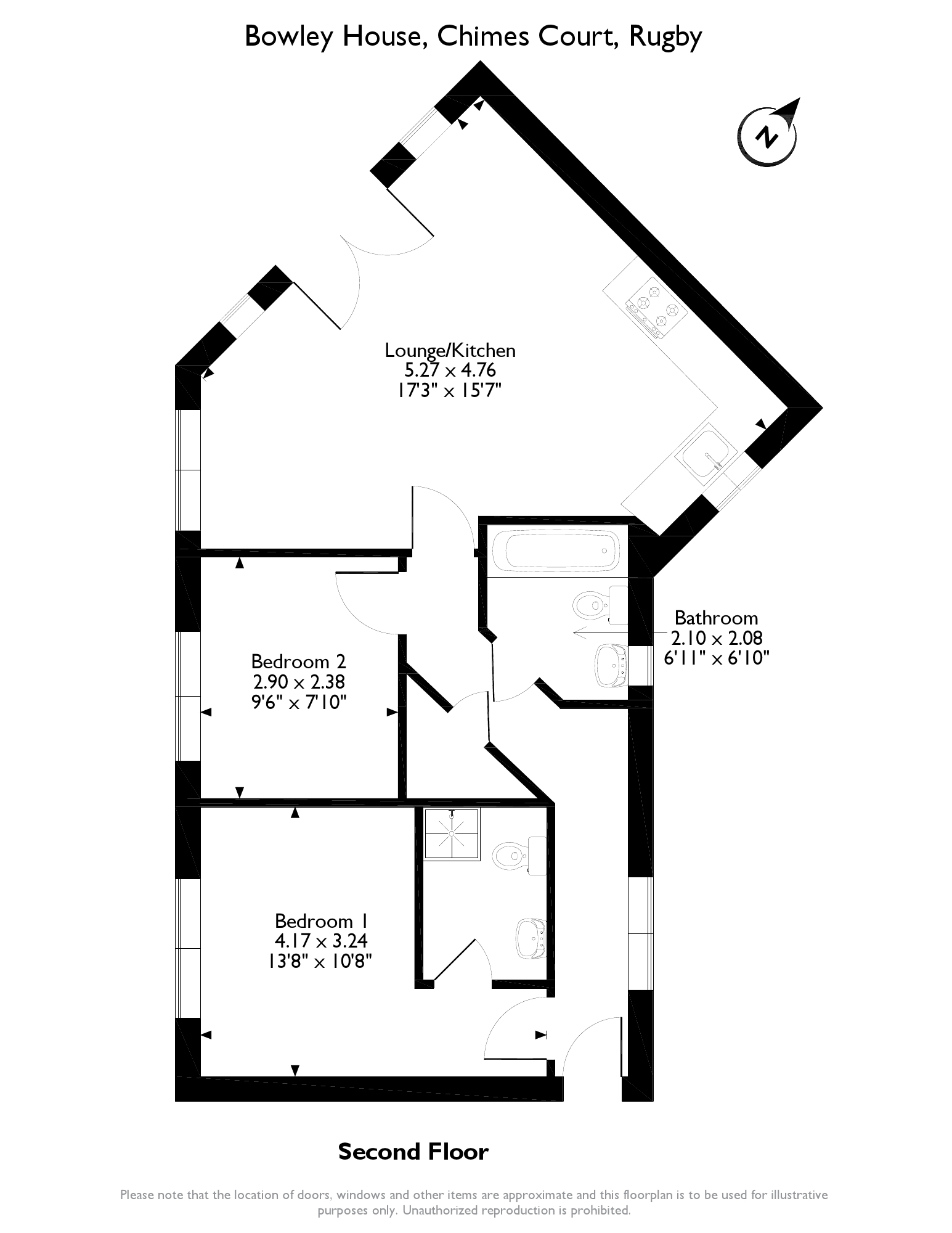 Chimes Court, Rugby, CV21 floor plan
