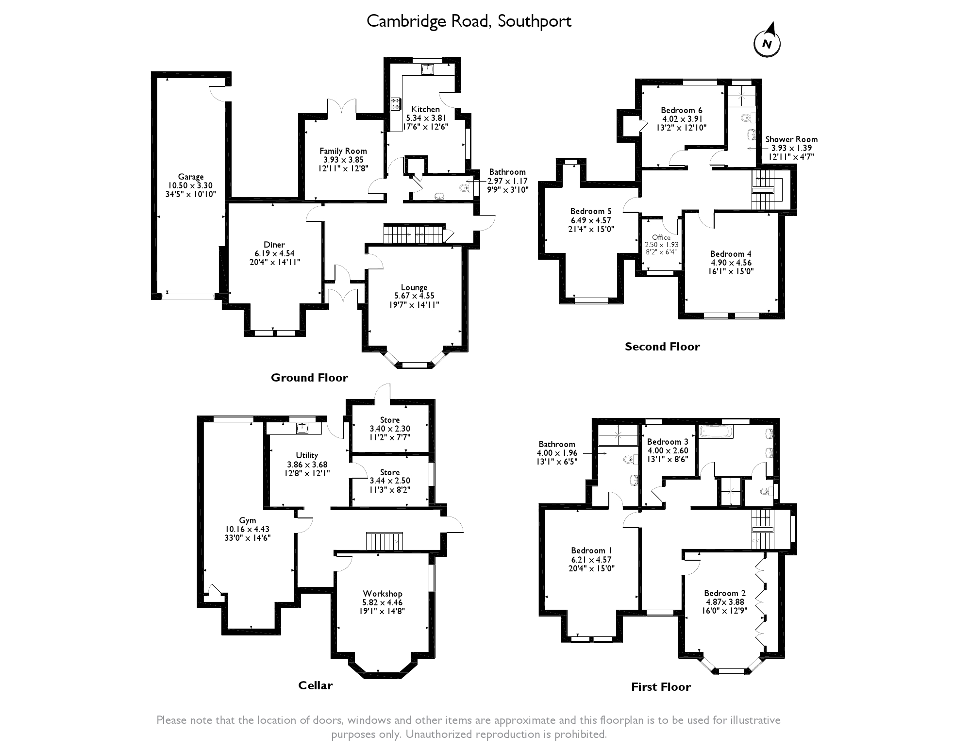 Cambridge Road,Southport, PR9 floor plan