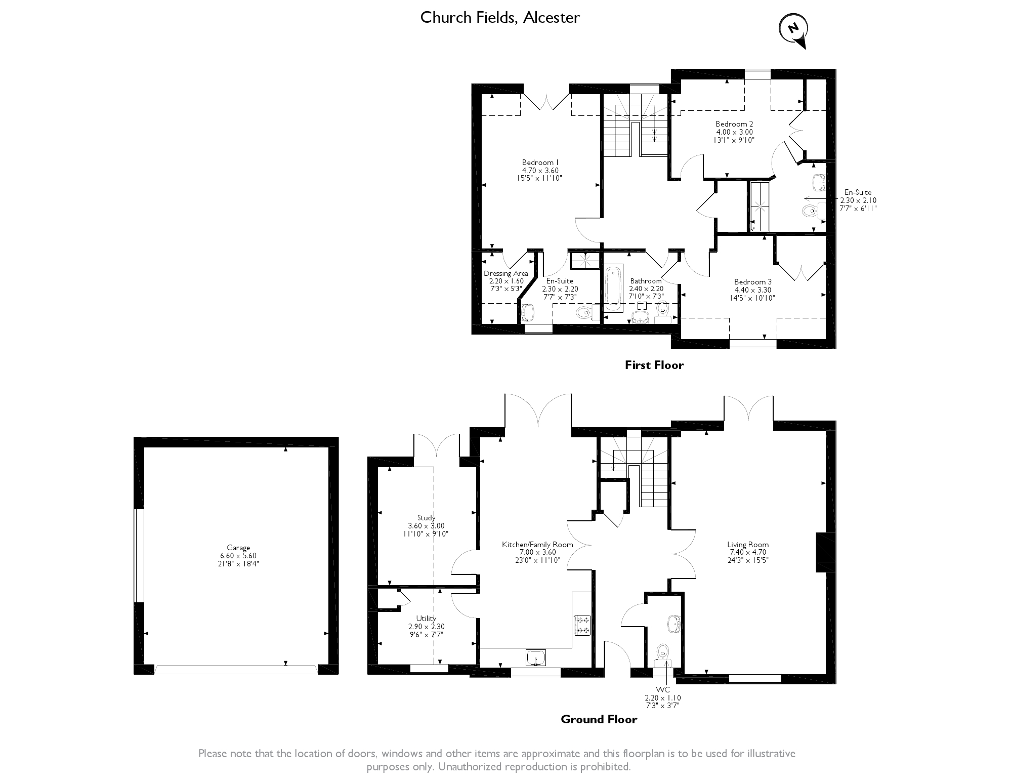 Church Fields, Alcester, B49 floor plan