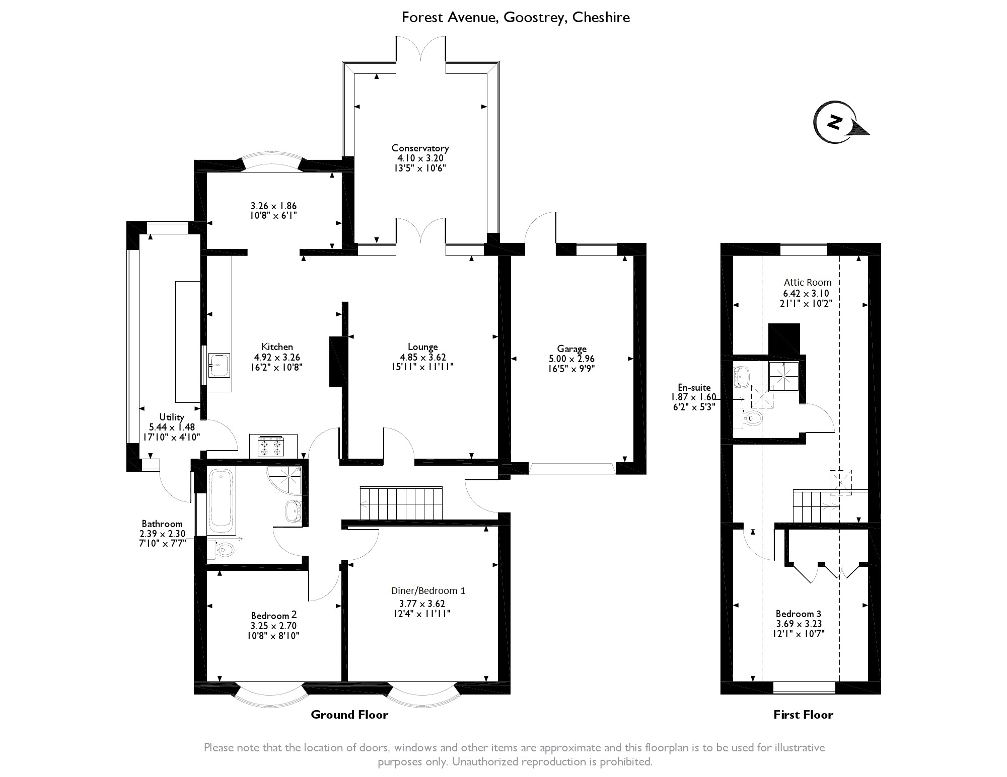 Forest Avenue, Goostrey, Cheshire, CW4 floor plan