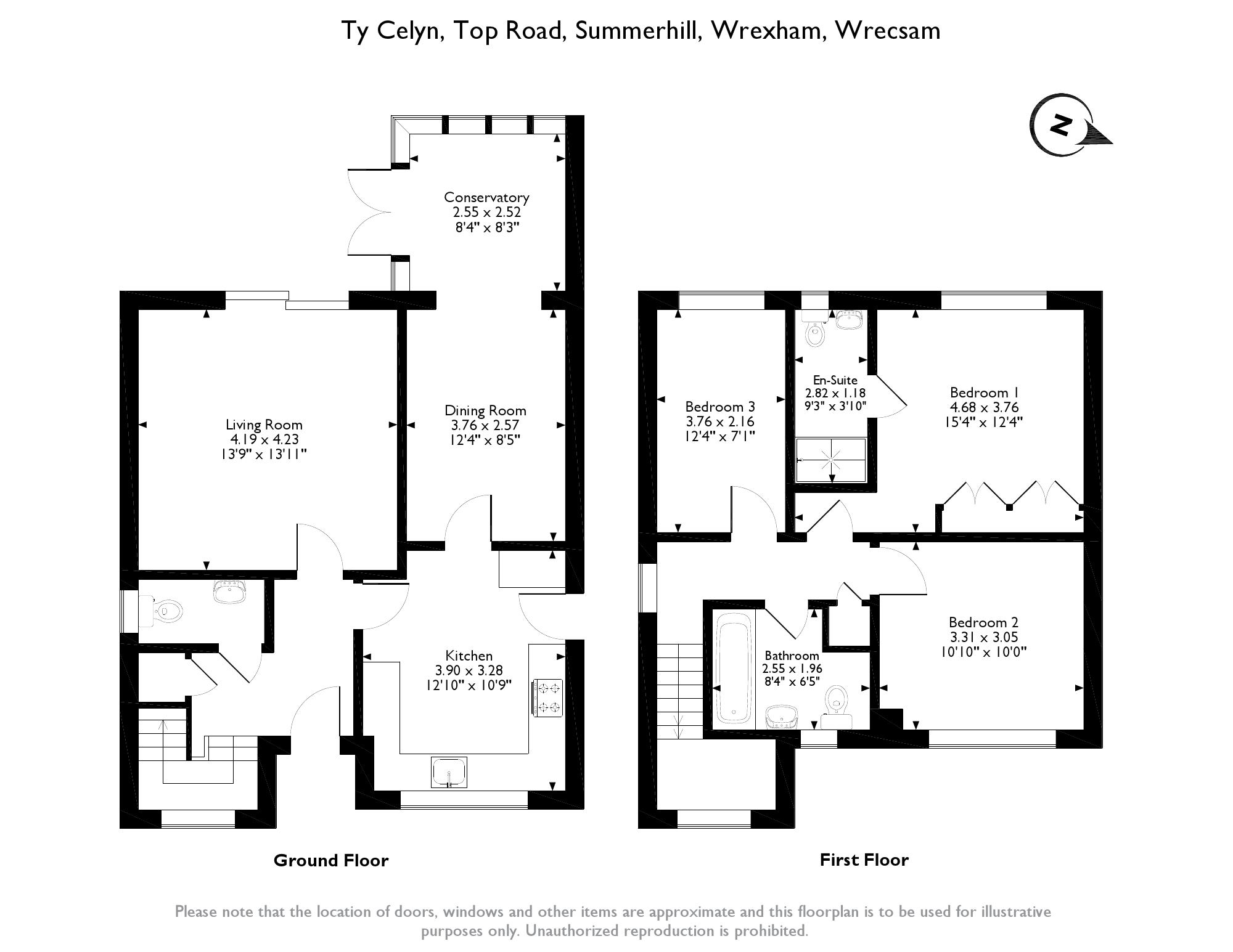 Top Road, Summerhill, Wrexham, LL11 floor plan