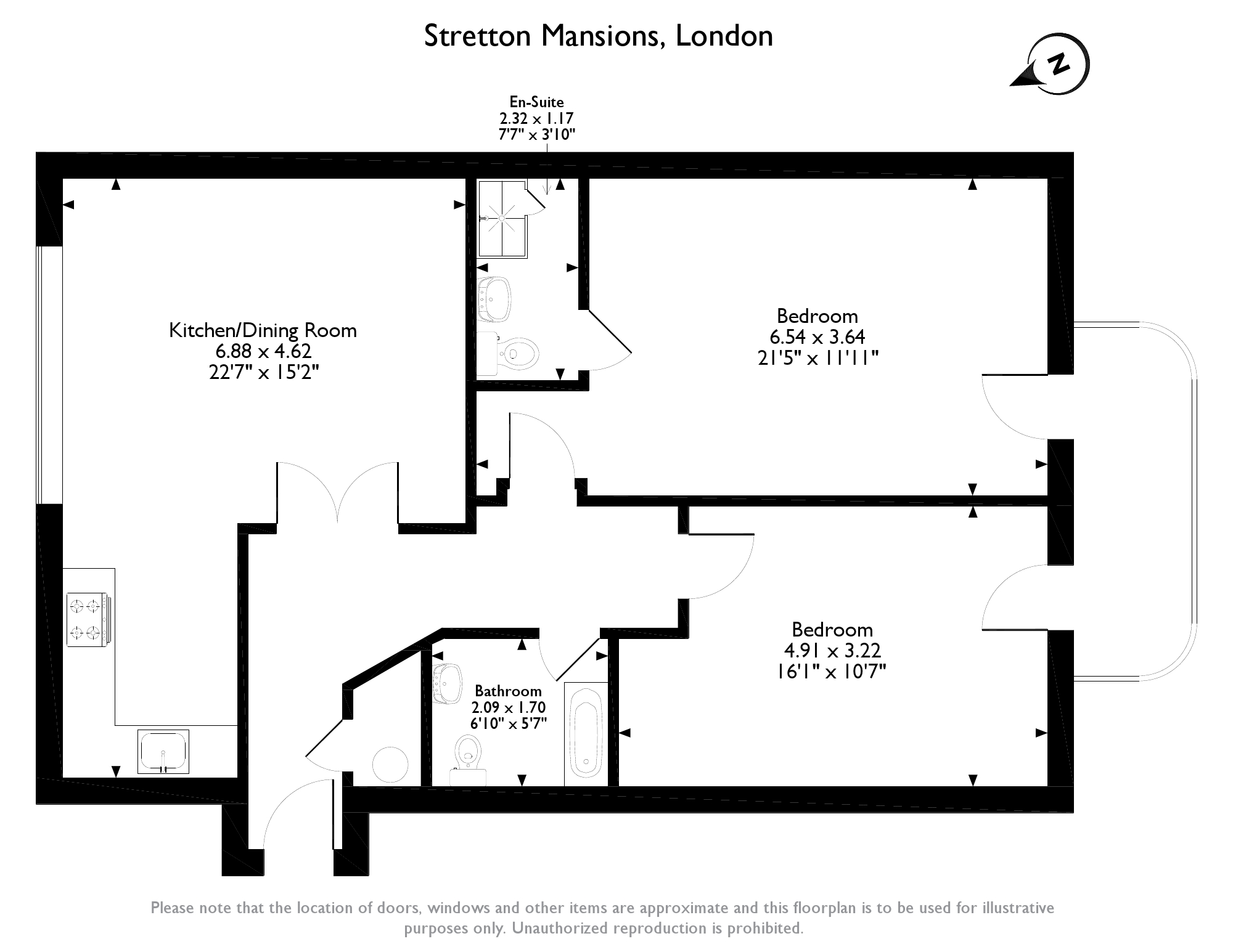 Stretton Mansions,London, SE8 floor plan