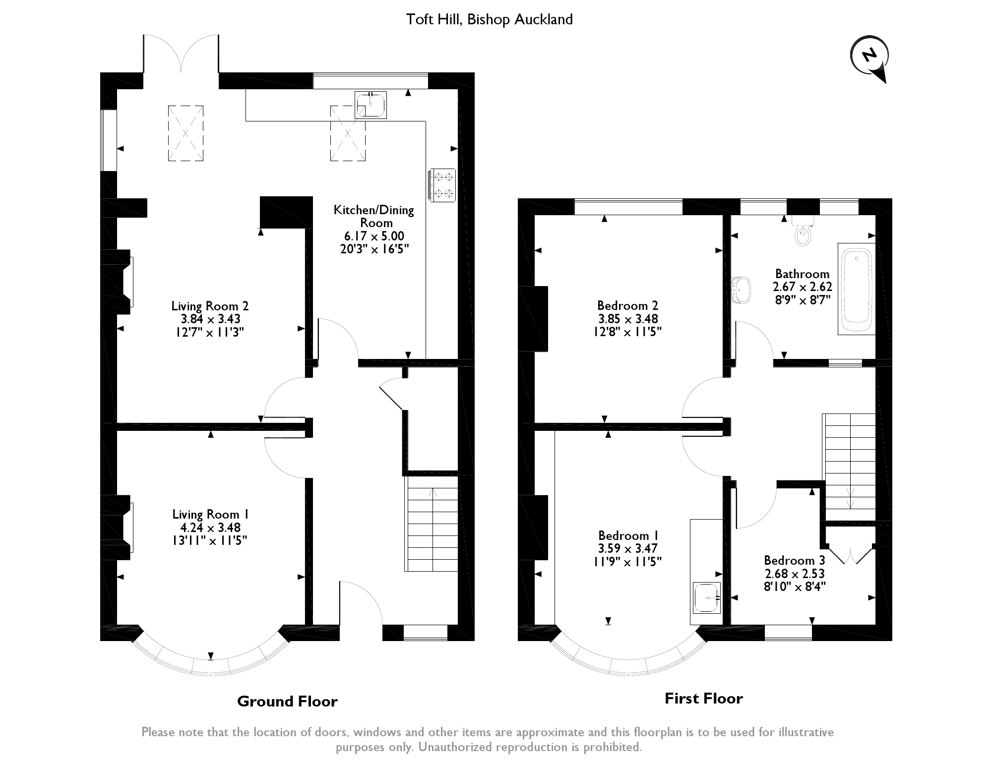 Toft Hill, Bishop Auckland, DL14 floor plan
