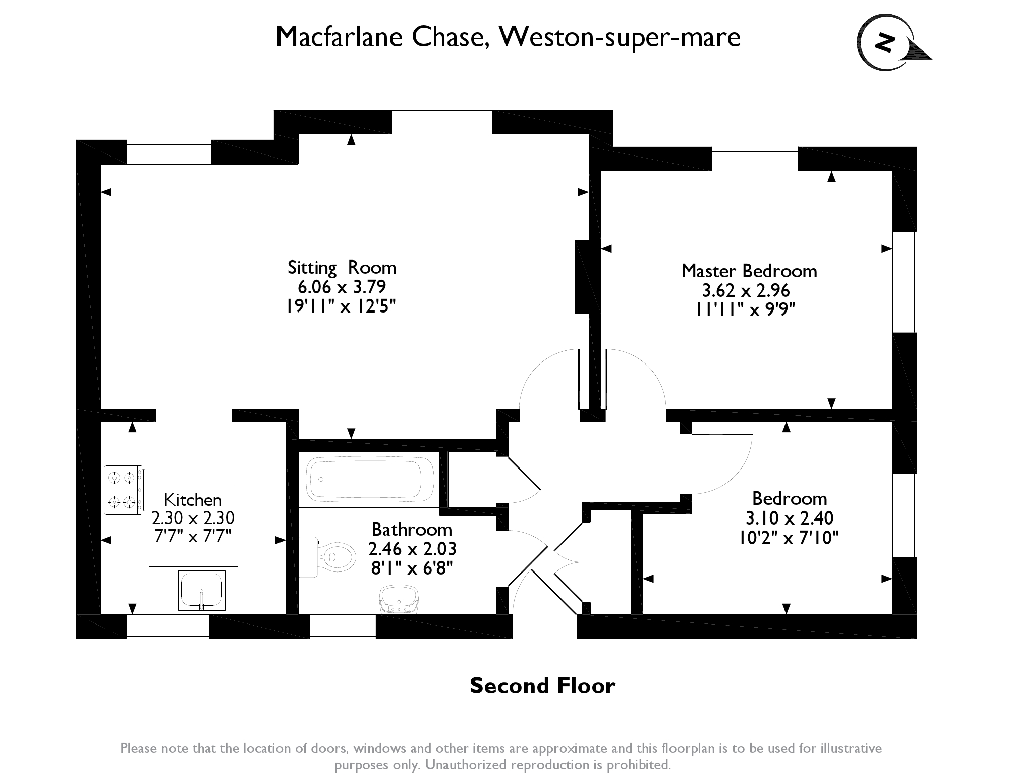 Macfarlane Chase, Weston-super-mare, BS23 floor plan