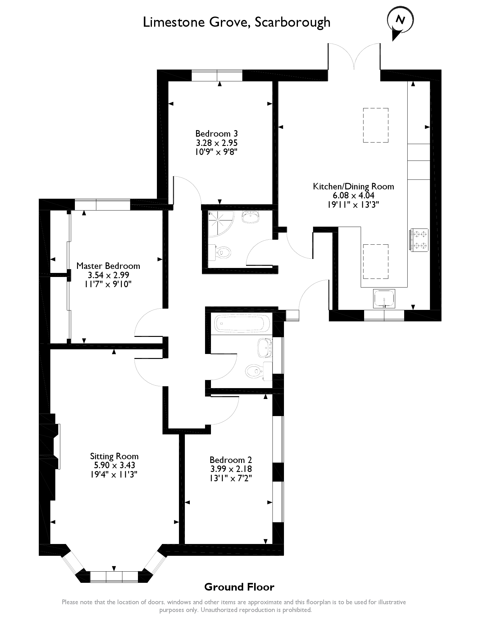Limestone Grove, Scarborough, YO13 floor plan