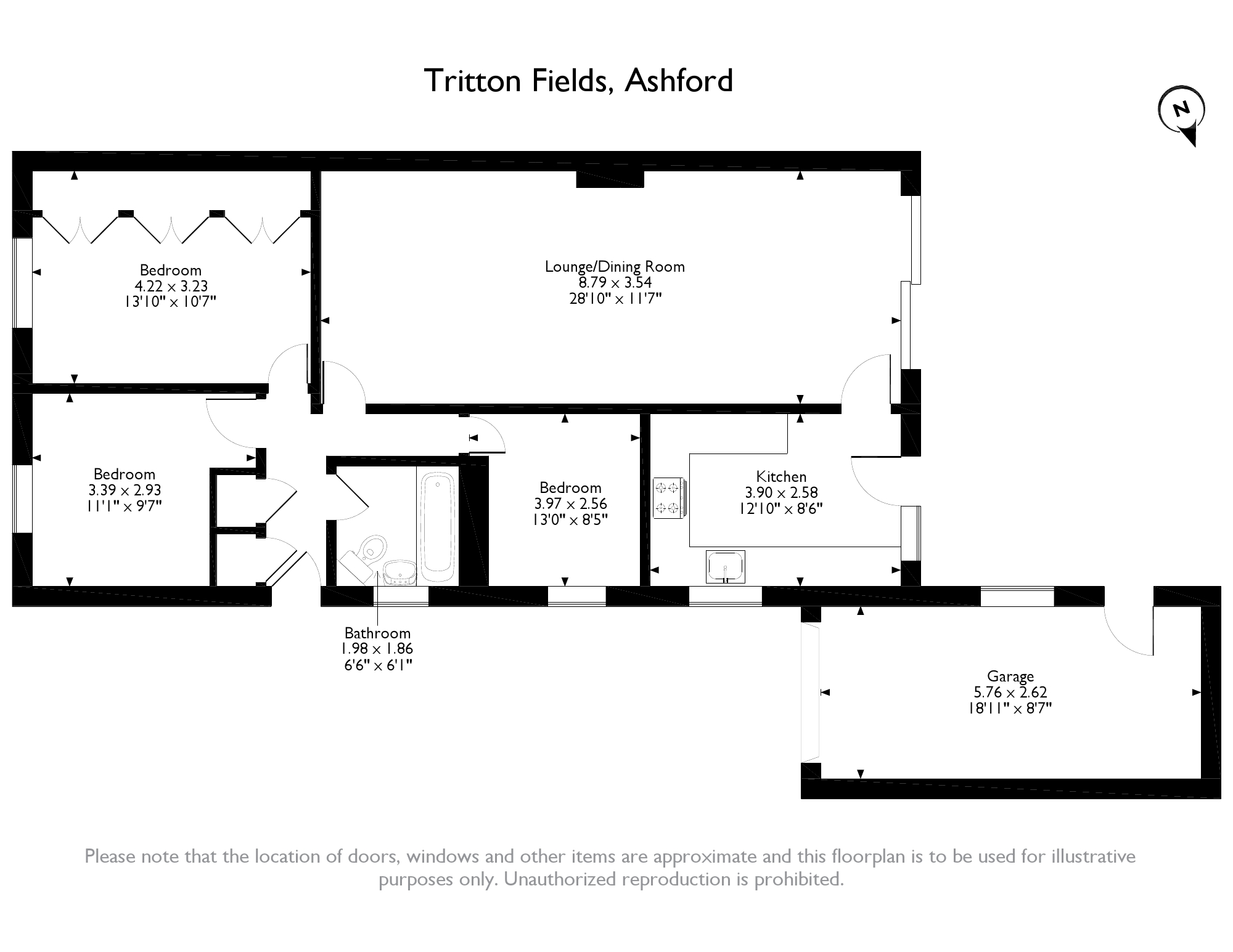 Tritton Fields, Ashford, TN24 floor plan