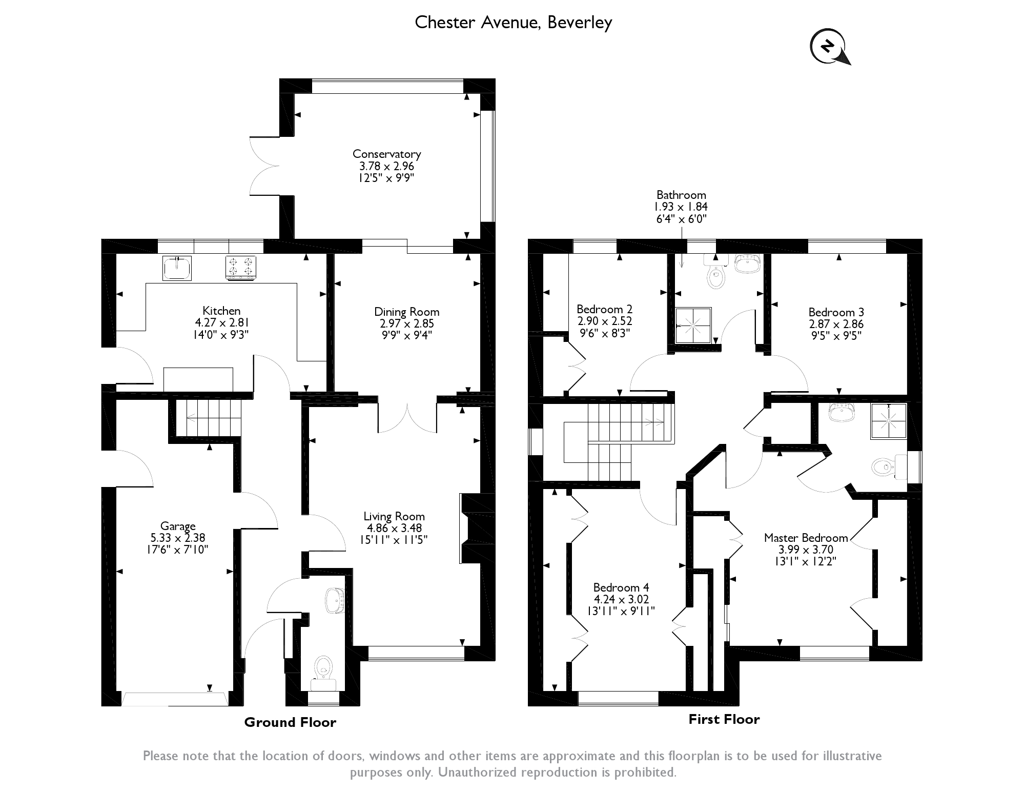Chester Avenue, Beverley, HU17 floor plan
