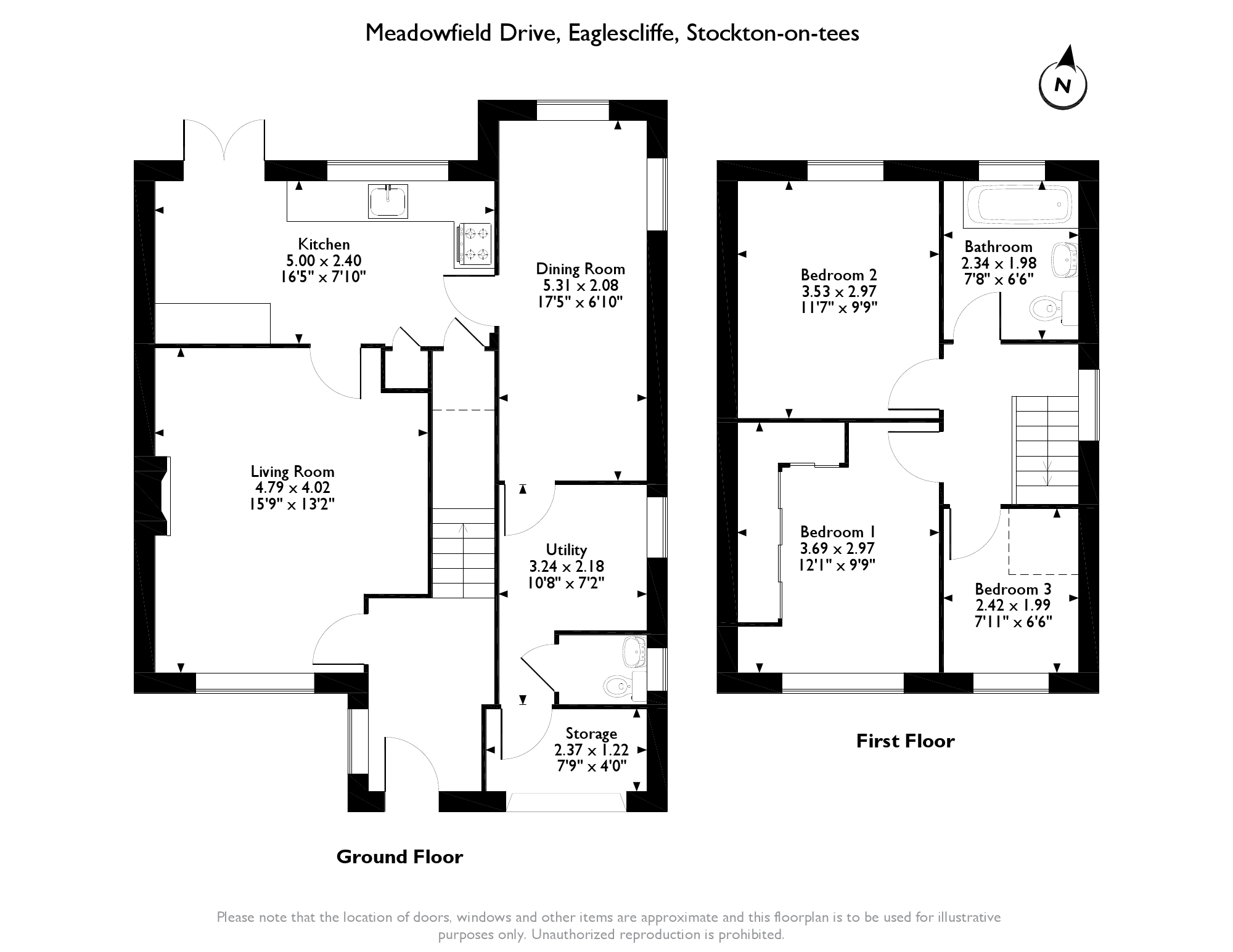 Meadowfield Drive, Eaglescliffe, TS16 floor plan