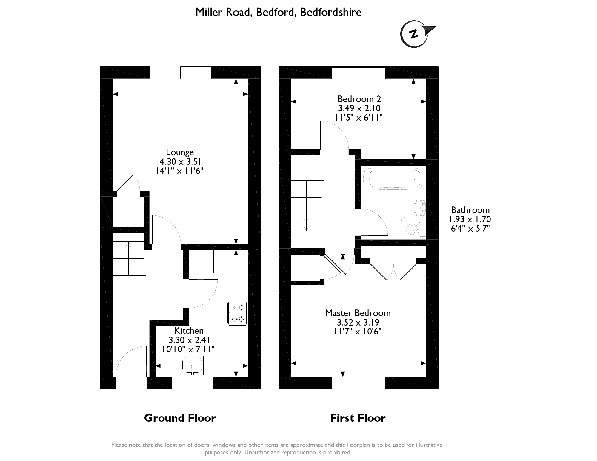 Miller Road, Bedford, MK42 floor plan