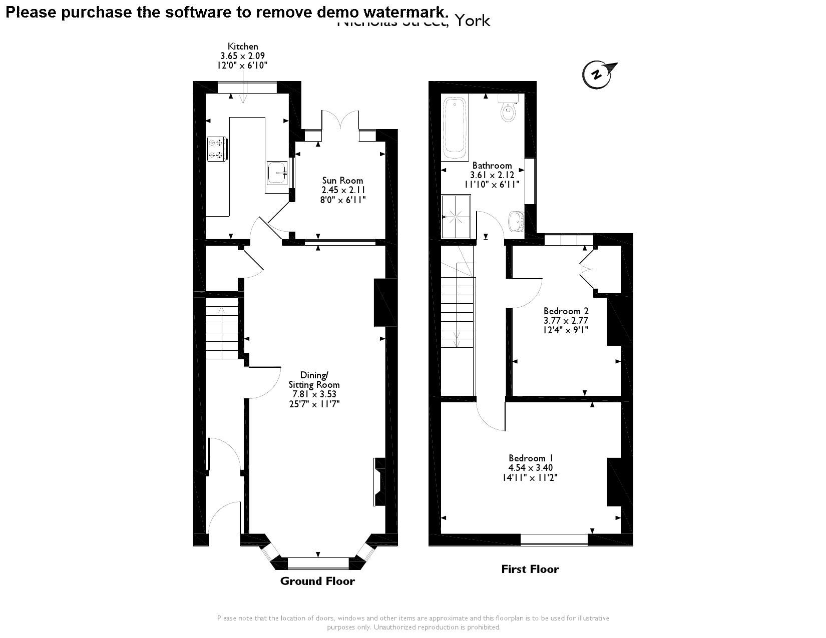 Nicholas Street, North Yorkshire, YO10 floor plan