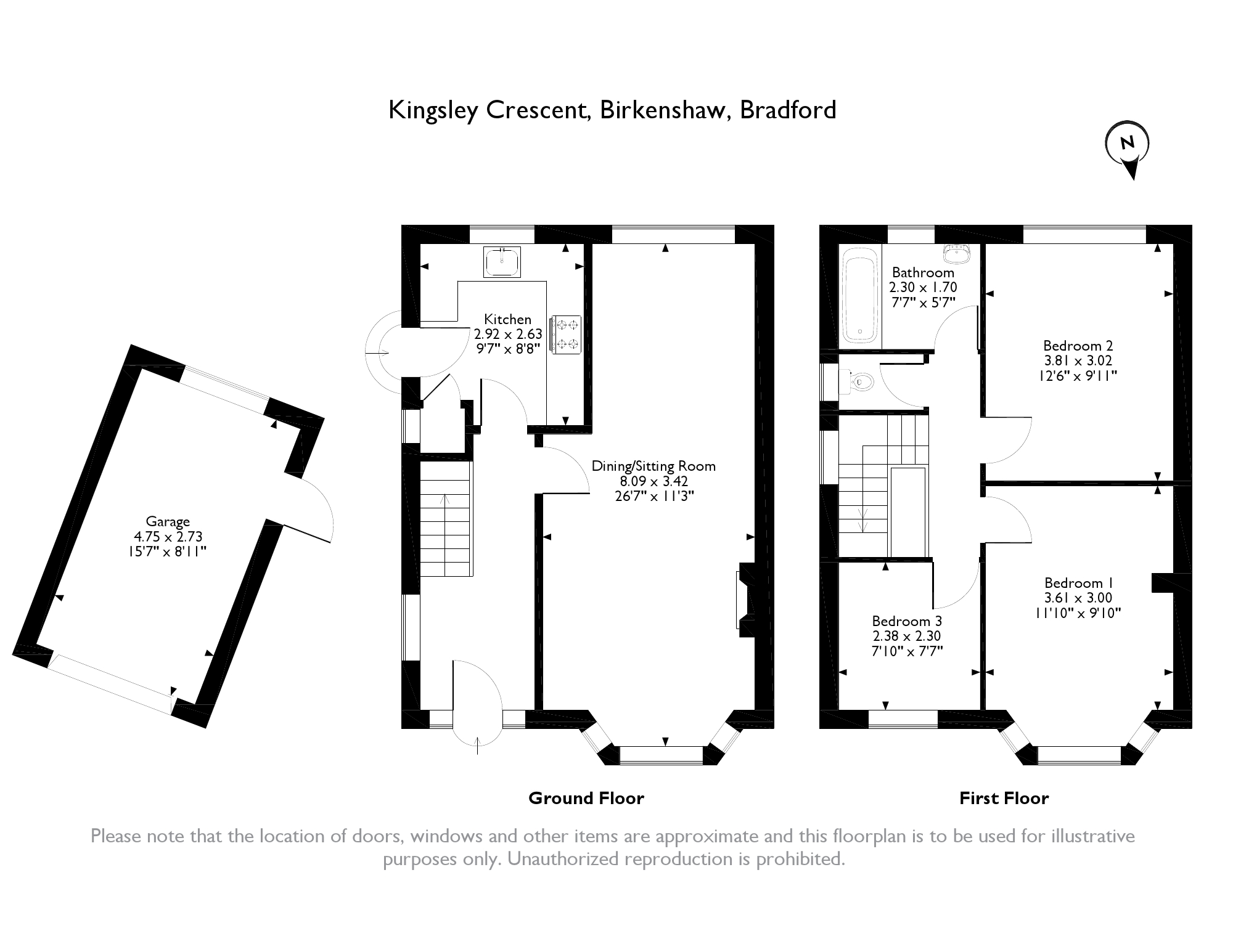 Kingsley Crescent, Birkenshaw, BD11 floor plan