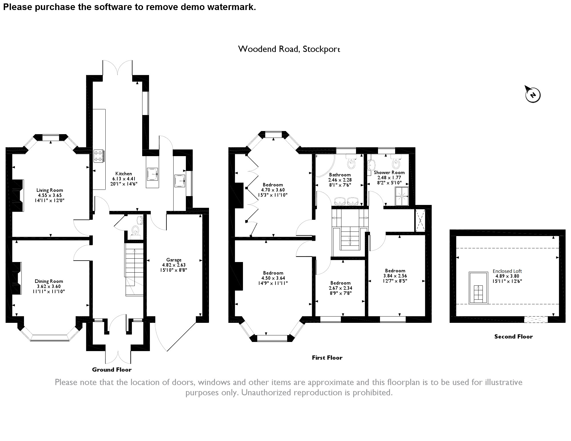 Woodend Road, Stockport, SK3 floor plan