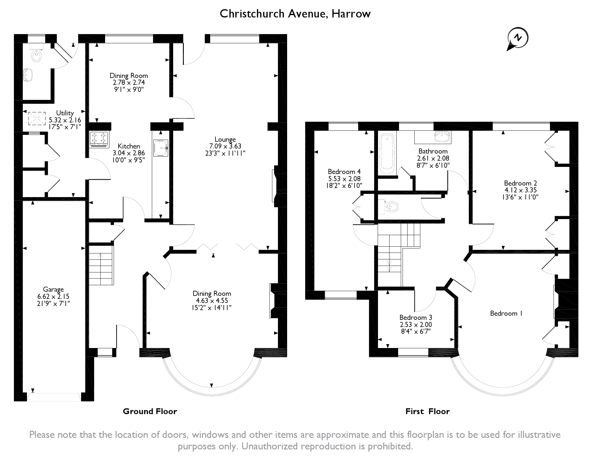 Christchurch Avenue, Harrow, HA3 floor plan
