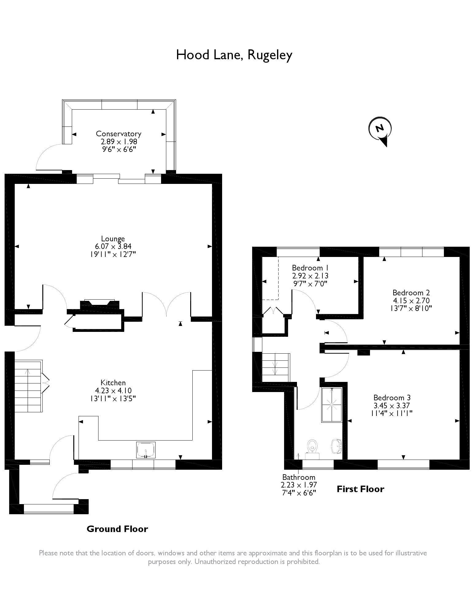 2a Hood Lane, Rugeley, WS15 4BW floor plan