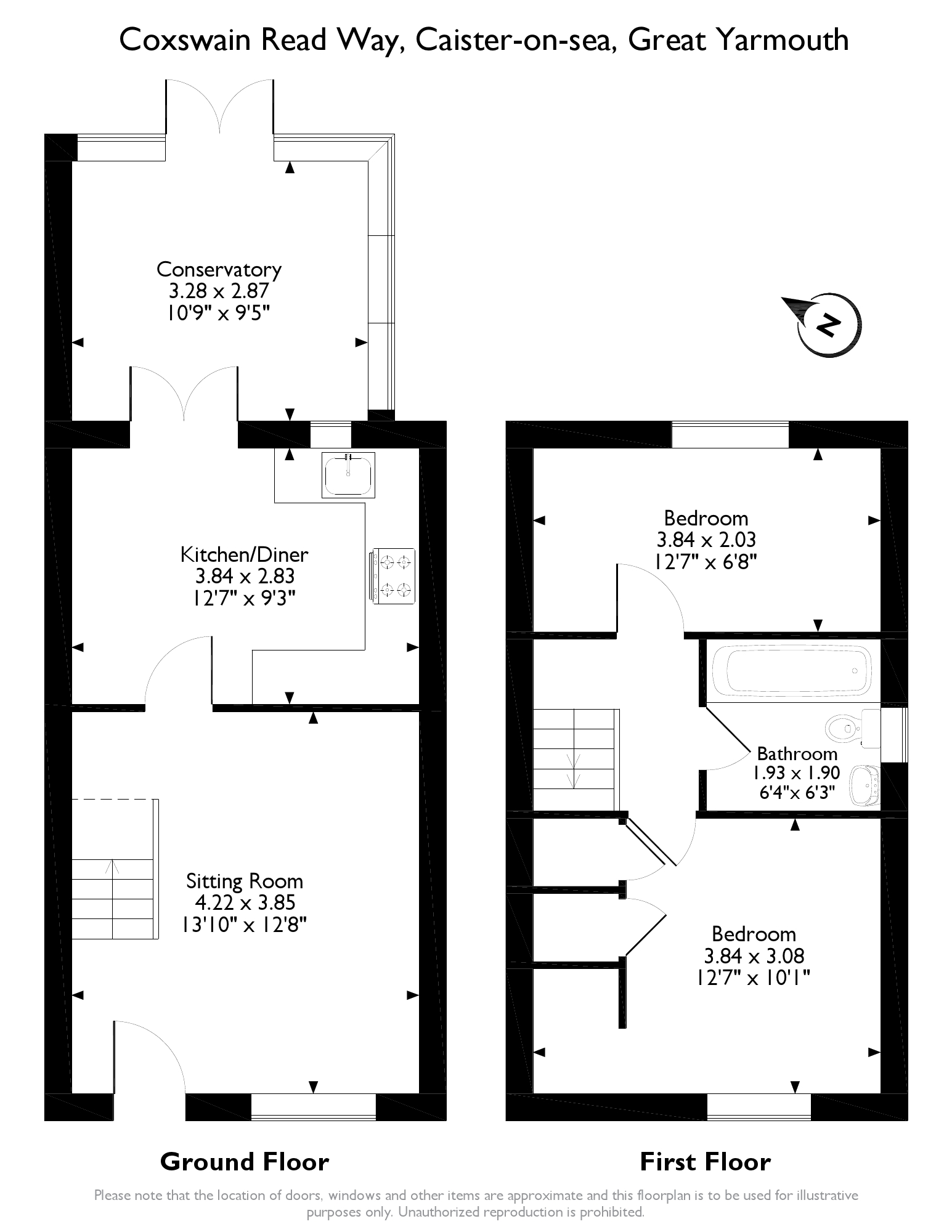 Coxswain Read Way, Caister on Sea, NR30 floor plan