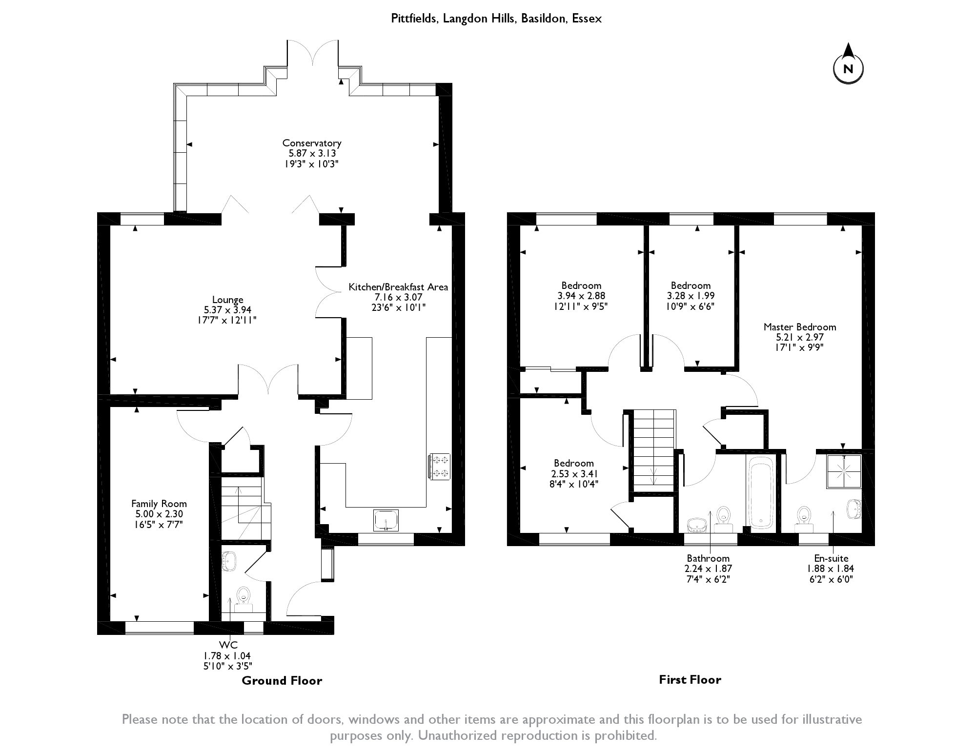 Pittfields, Langdon Hills, SS16 floor plan
