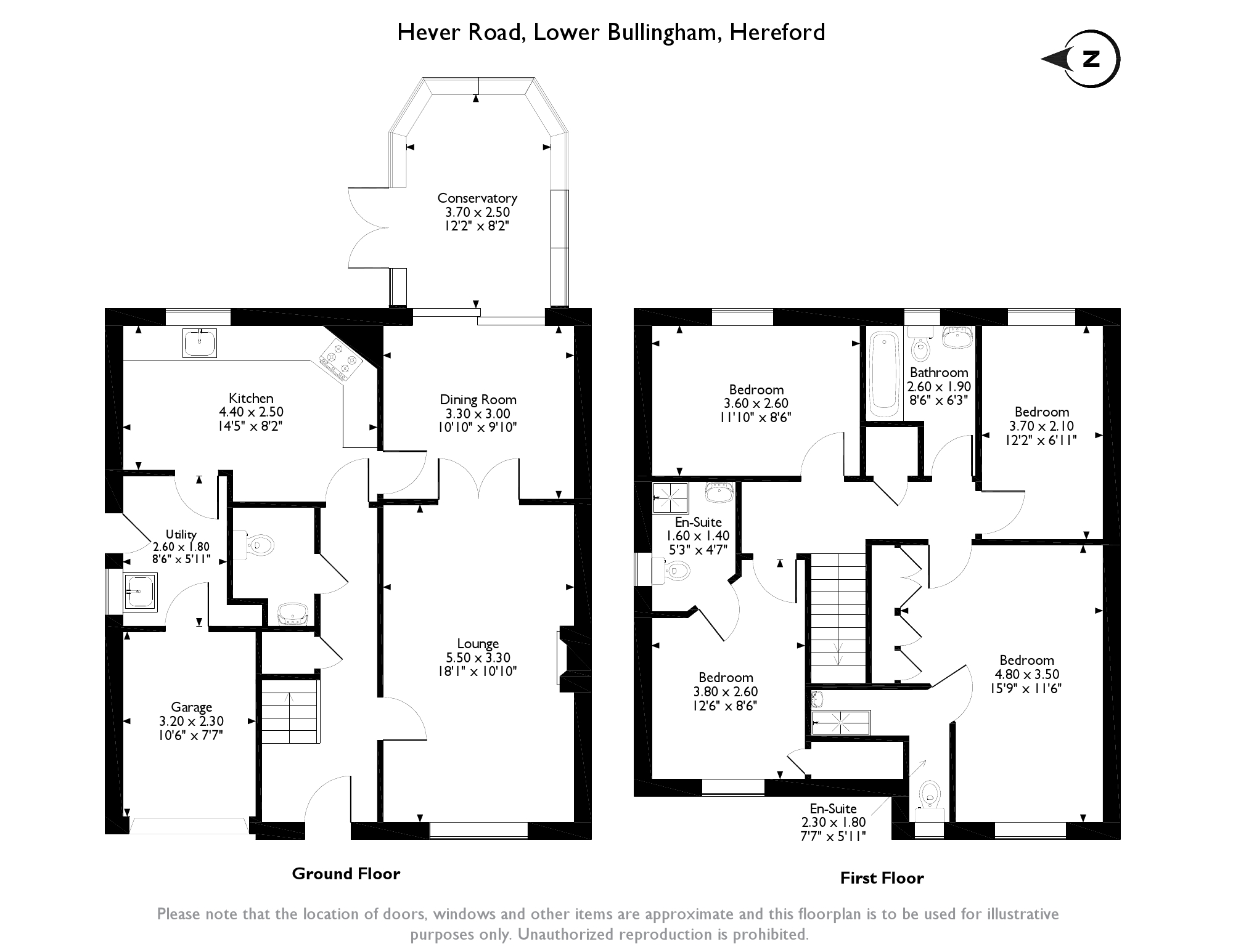 Hever Road, Lower Bullingham, Hereford, floor plan