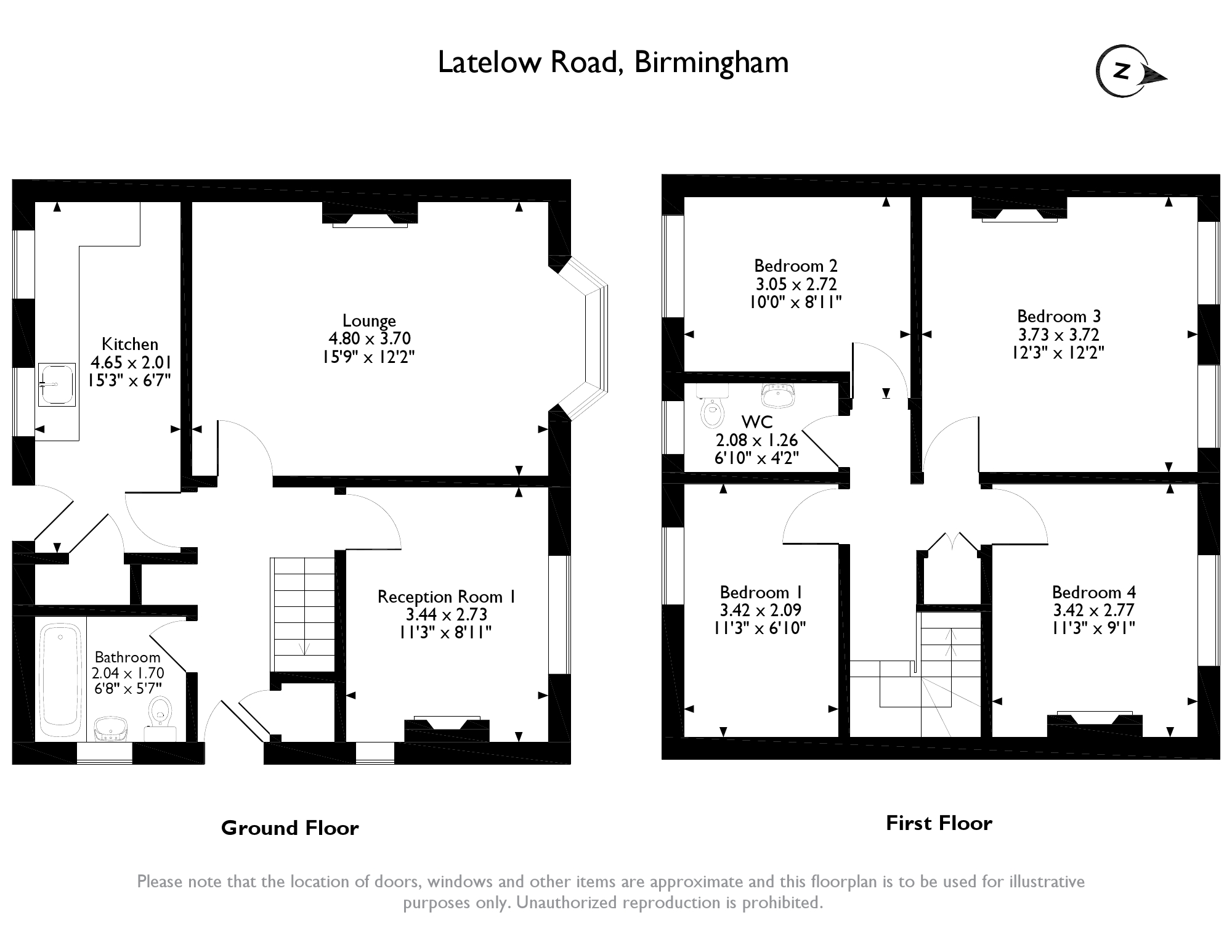 Latelow Road,Birmingham, B33 floor plan