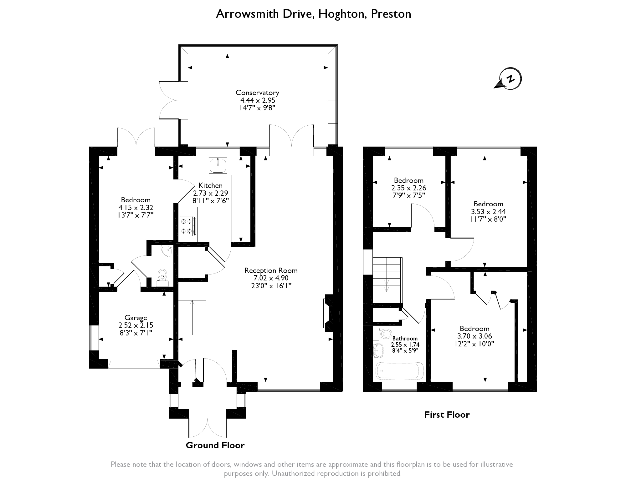 Arrowsmith Drive, Preston, Lancashire, PR5 floor plan