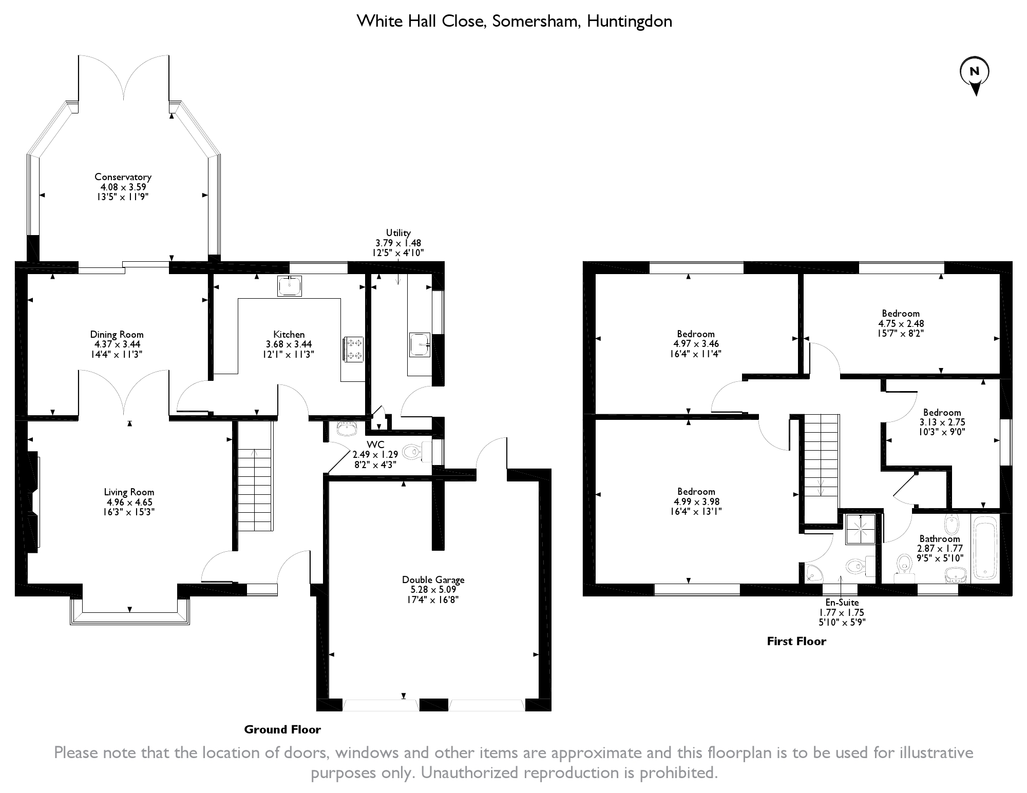 White Hall Close, Somersham, Huntingdon, PE28 floor plan
