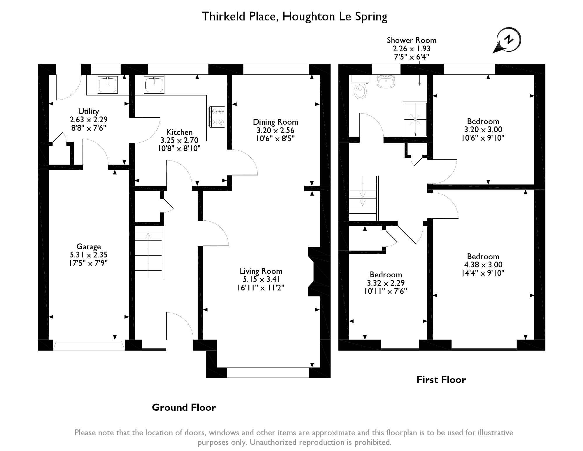 Thirkeld Place,Houghton Le Spring, DH4 floor plan