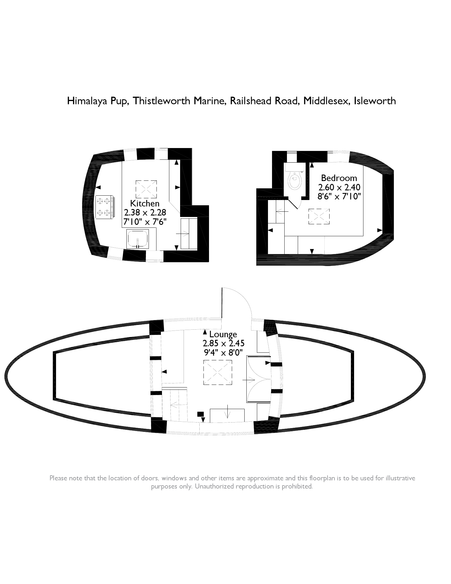 Thistleworth Marine, Isleworth, Middlesex TW7 floor plan