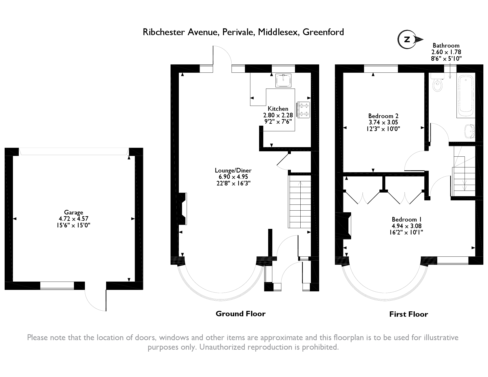 Greenford, Middlesex, UB6 floor plan