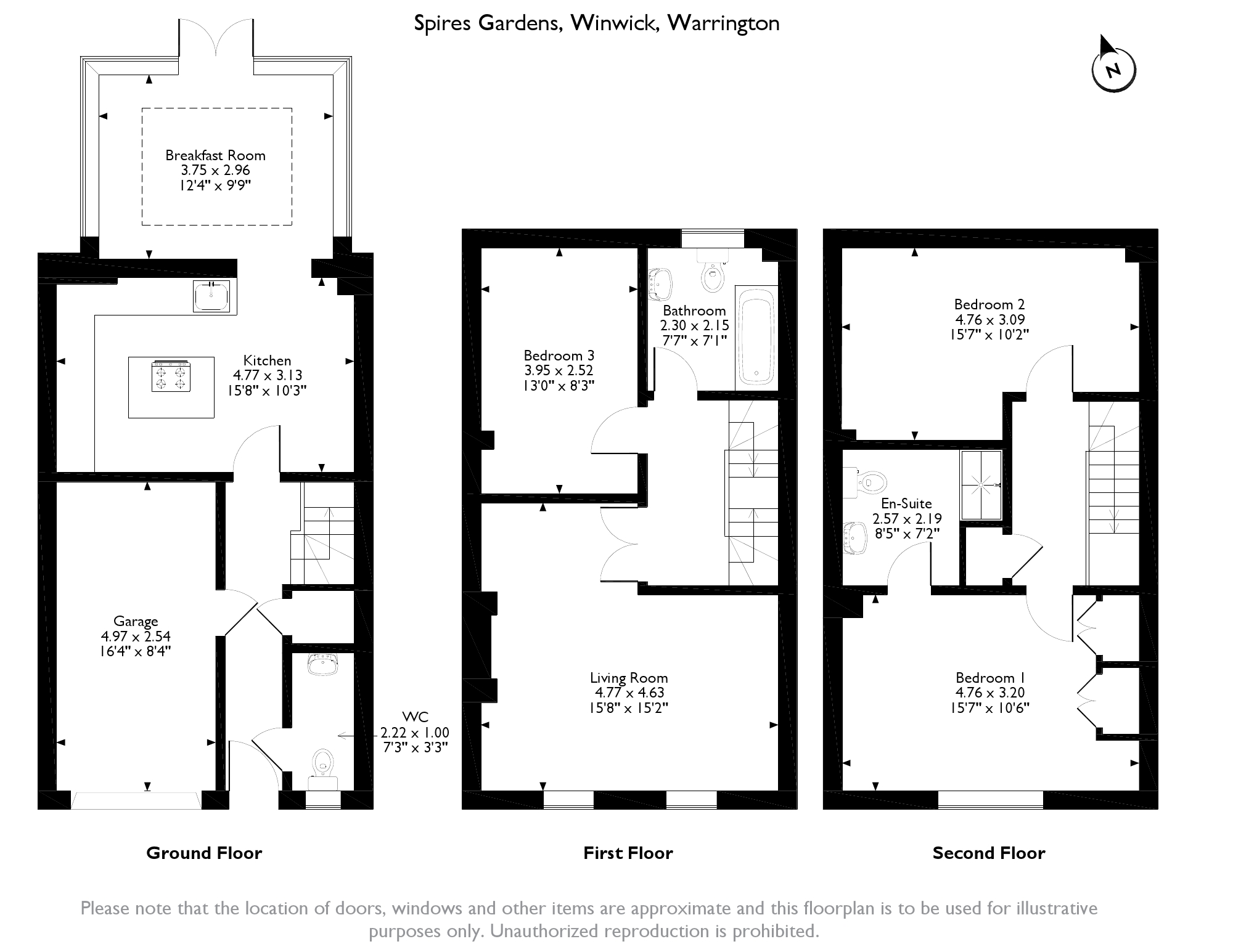 Spires Garden, Warrington, WA2 floor plan