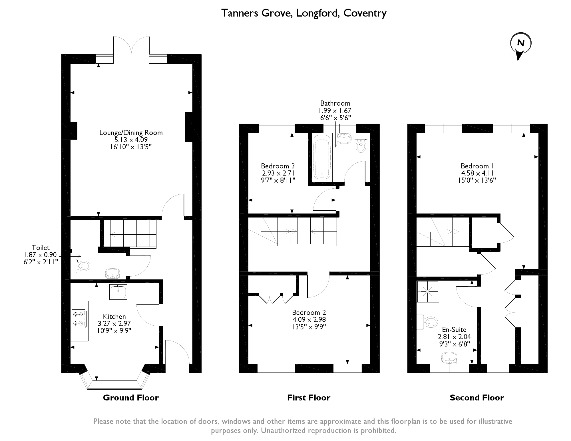 Tanners Grove,Coventry, CV6 floor plan