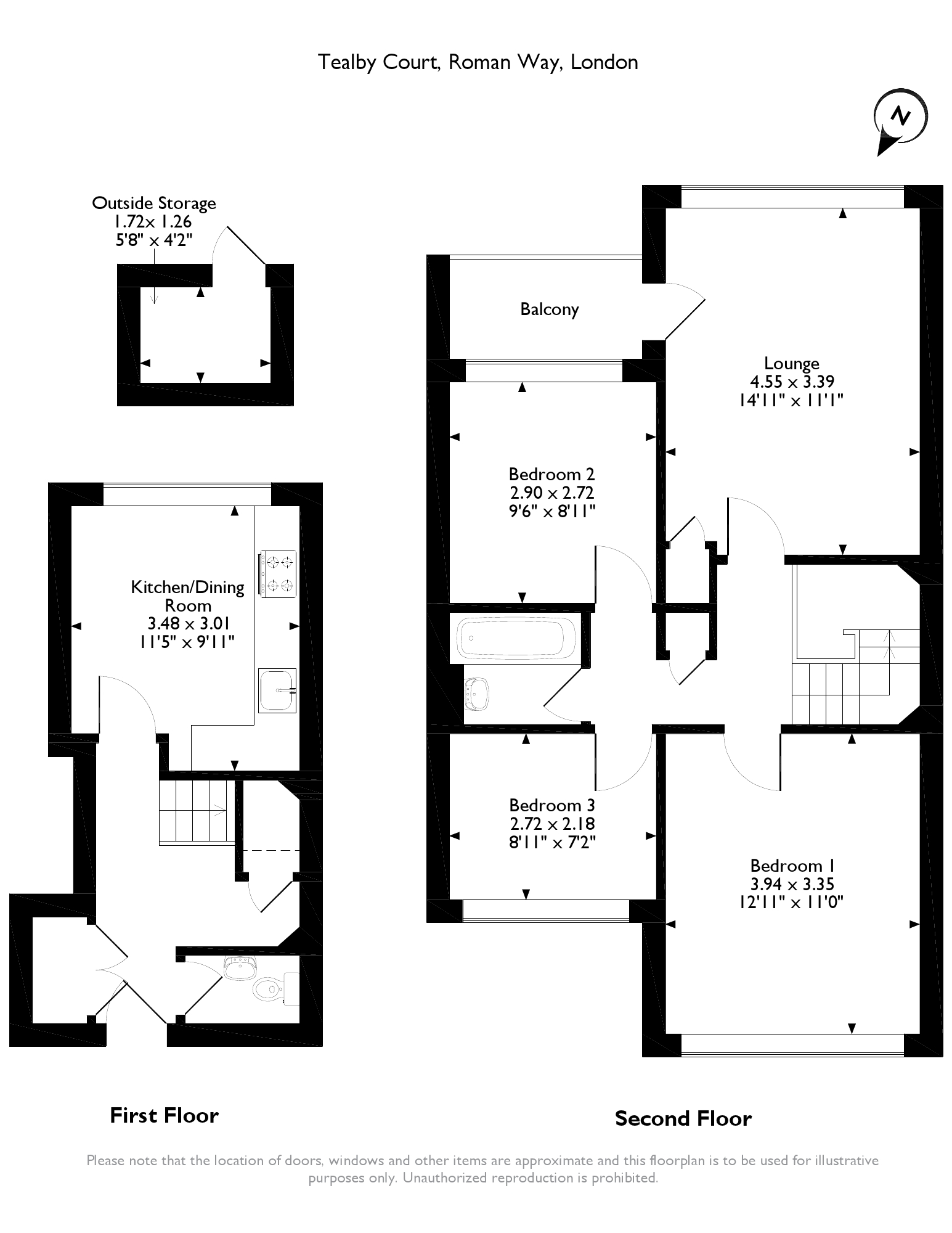 Tealby Court,Roman Way,London,N7 floor plan