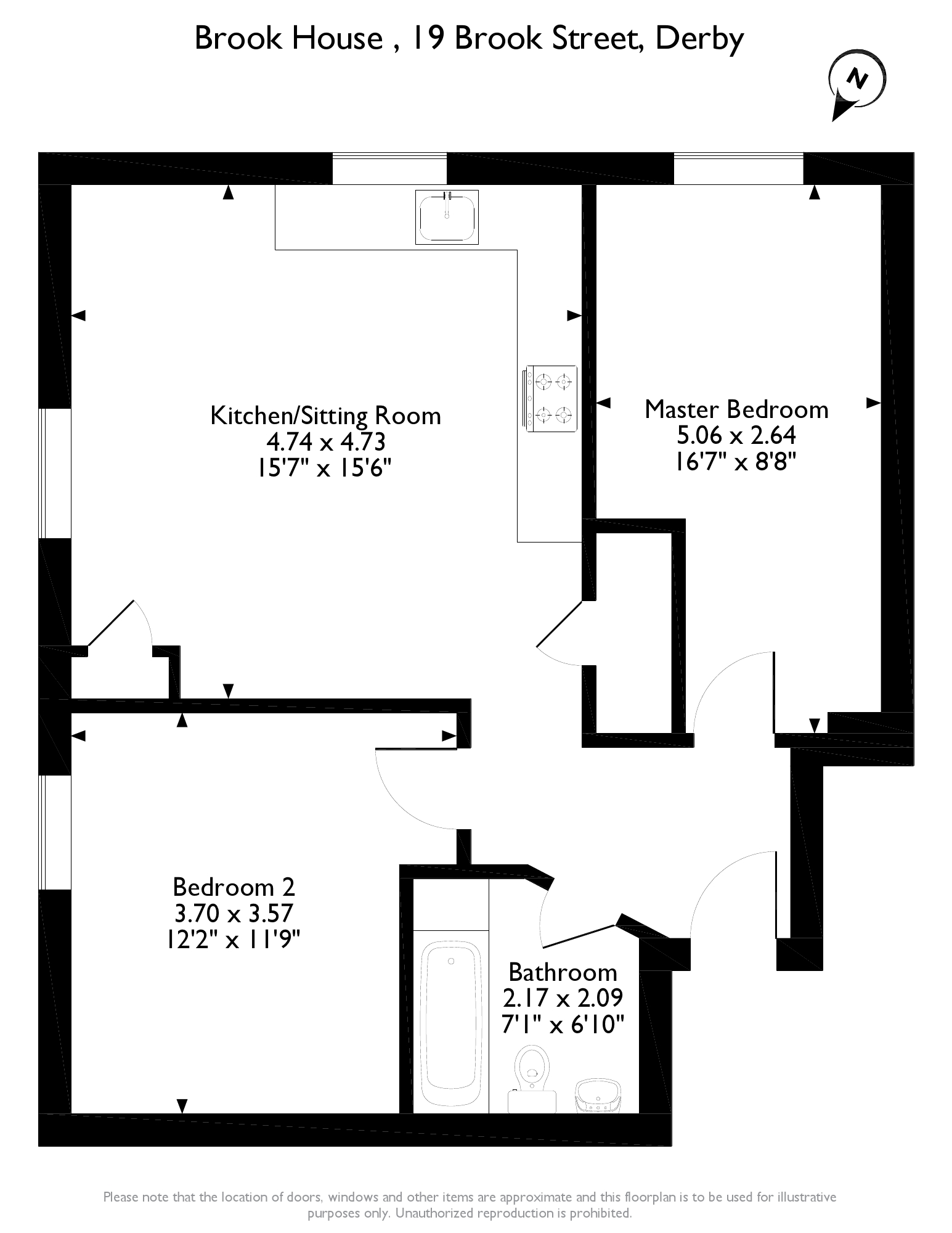 Brook Street, Derby, DE1 floor plan