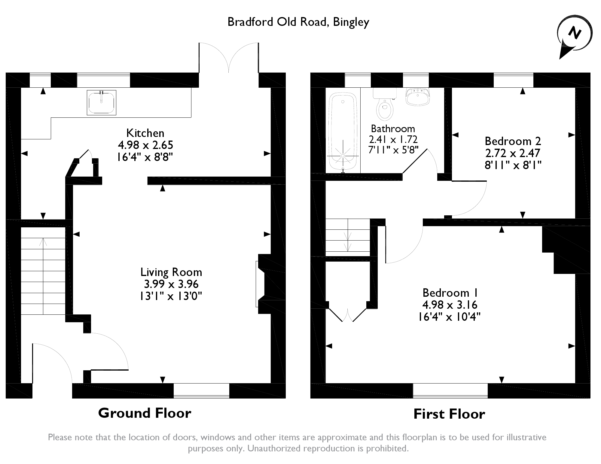 Bradford Old Road, Cottingley, BD16 floor plan