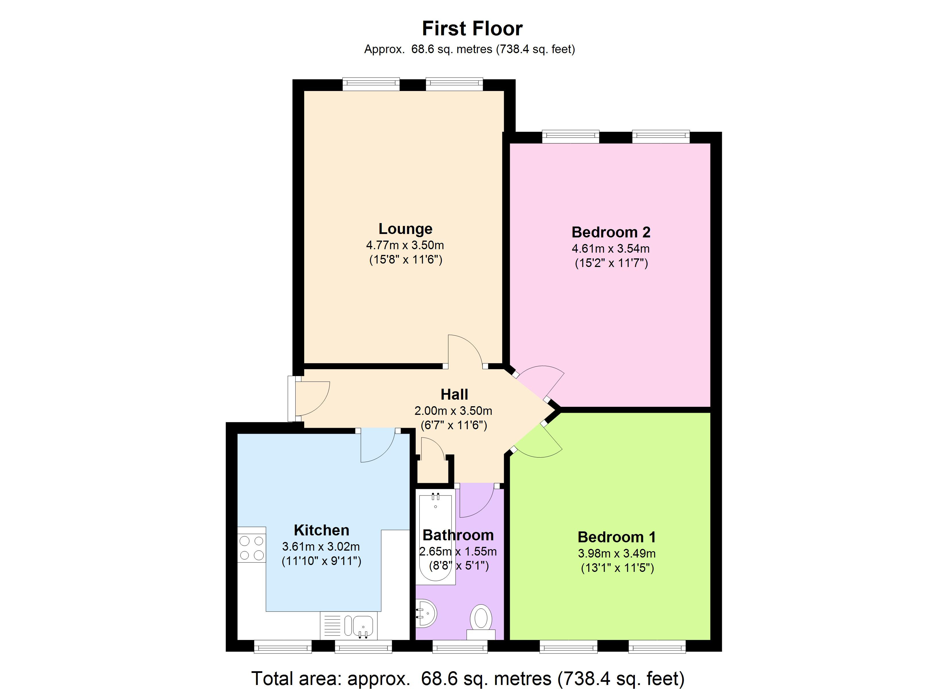 Talgarth Mansions, Talgarth Road, London, W14 floor plan