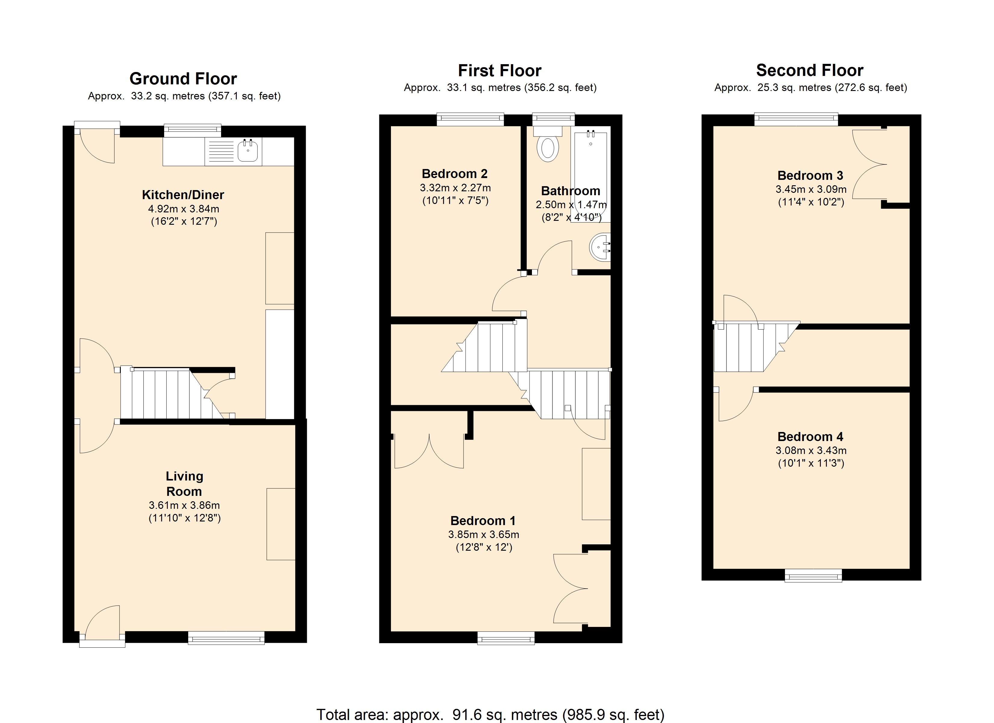 Hartington Terrace, Bradford, BD7 floor plan