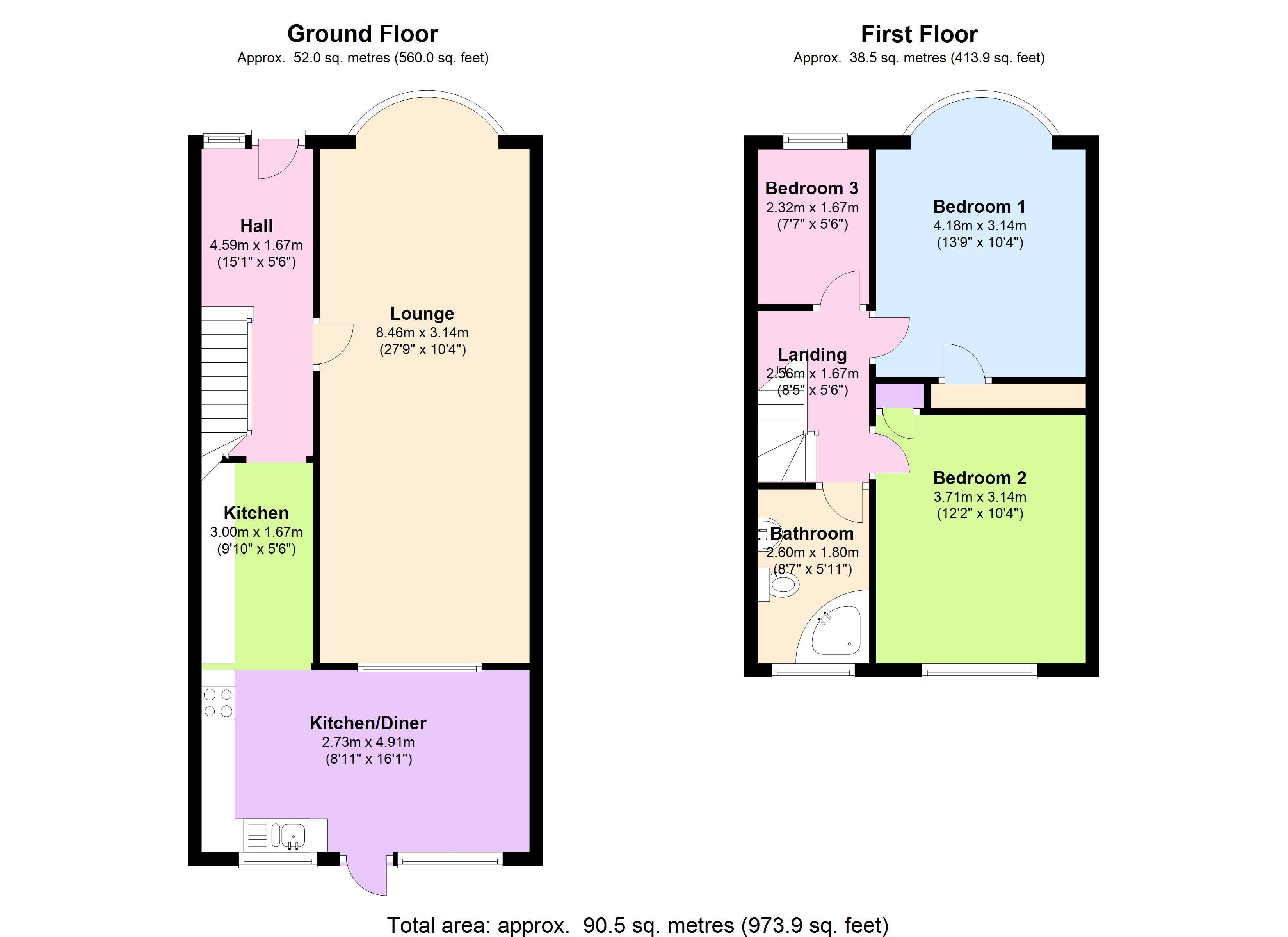 Freemantle Avenue,Enfield, EN3 floor plan