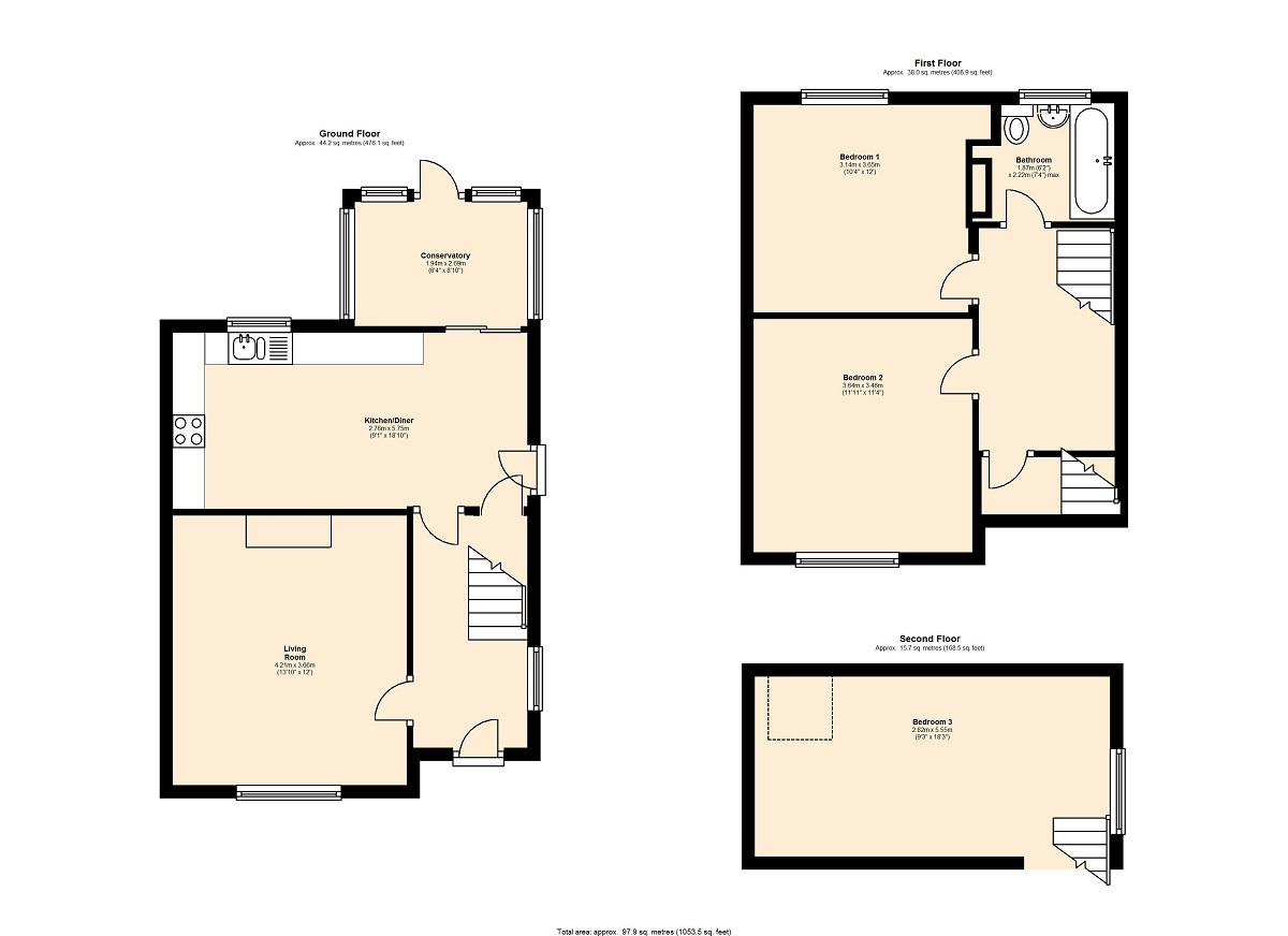 Manor Crescent, Leeds, LS26 floor plan