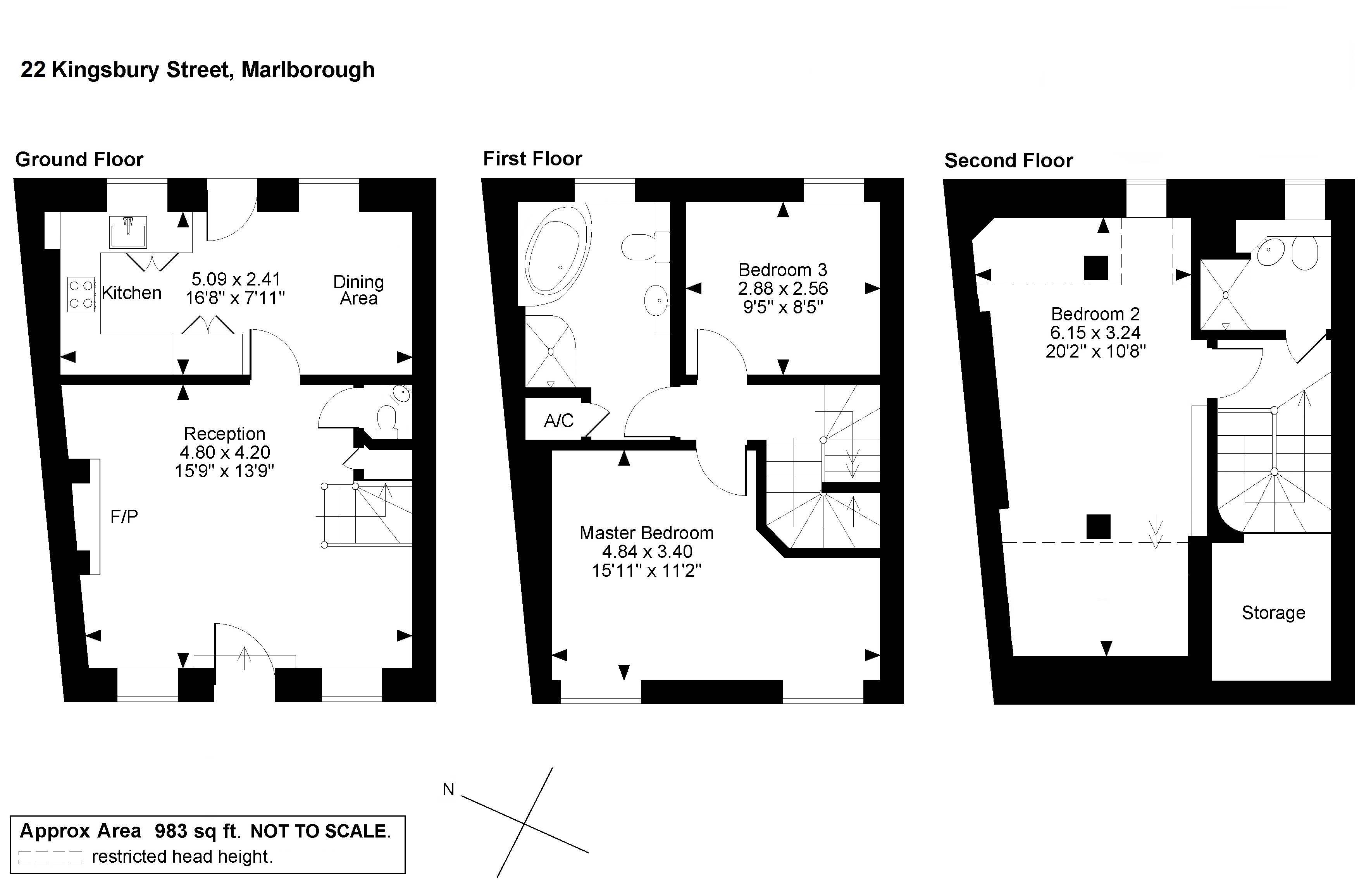 Kingsbury Street, Marlborough, SN8 floor plan
