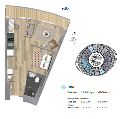Baltimore Tower, Canary Wharf,E14 floor plan