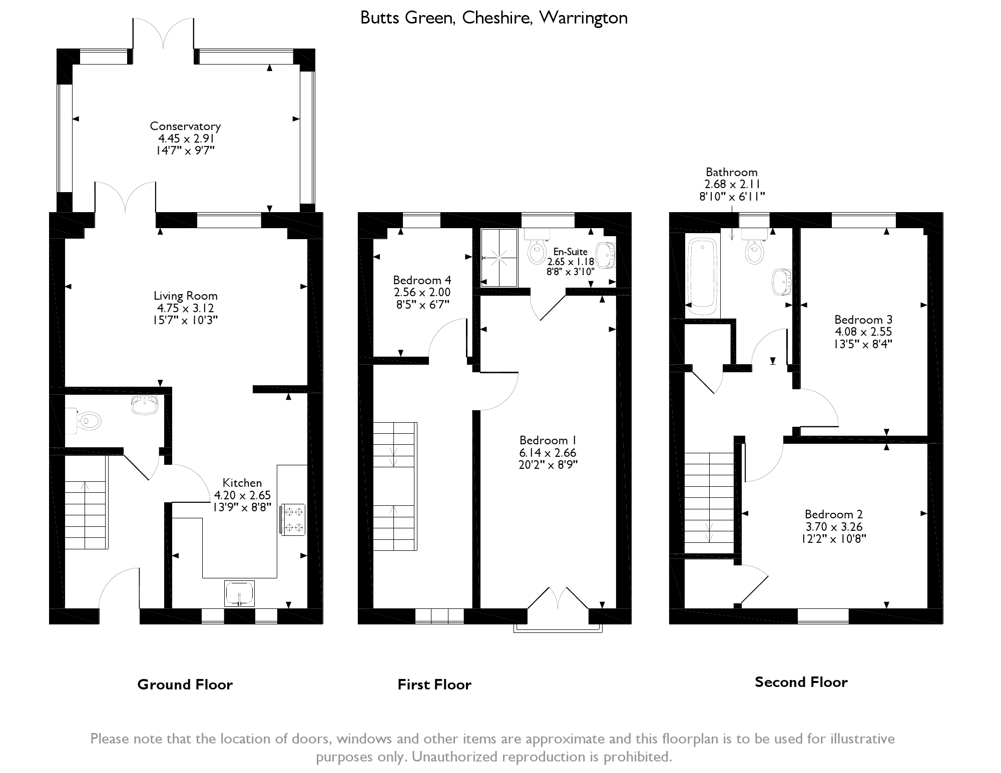 Butts Green, Warrington, WA5 floor plan