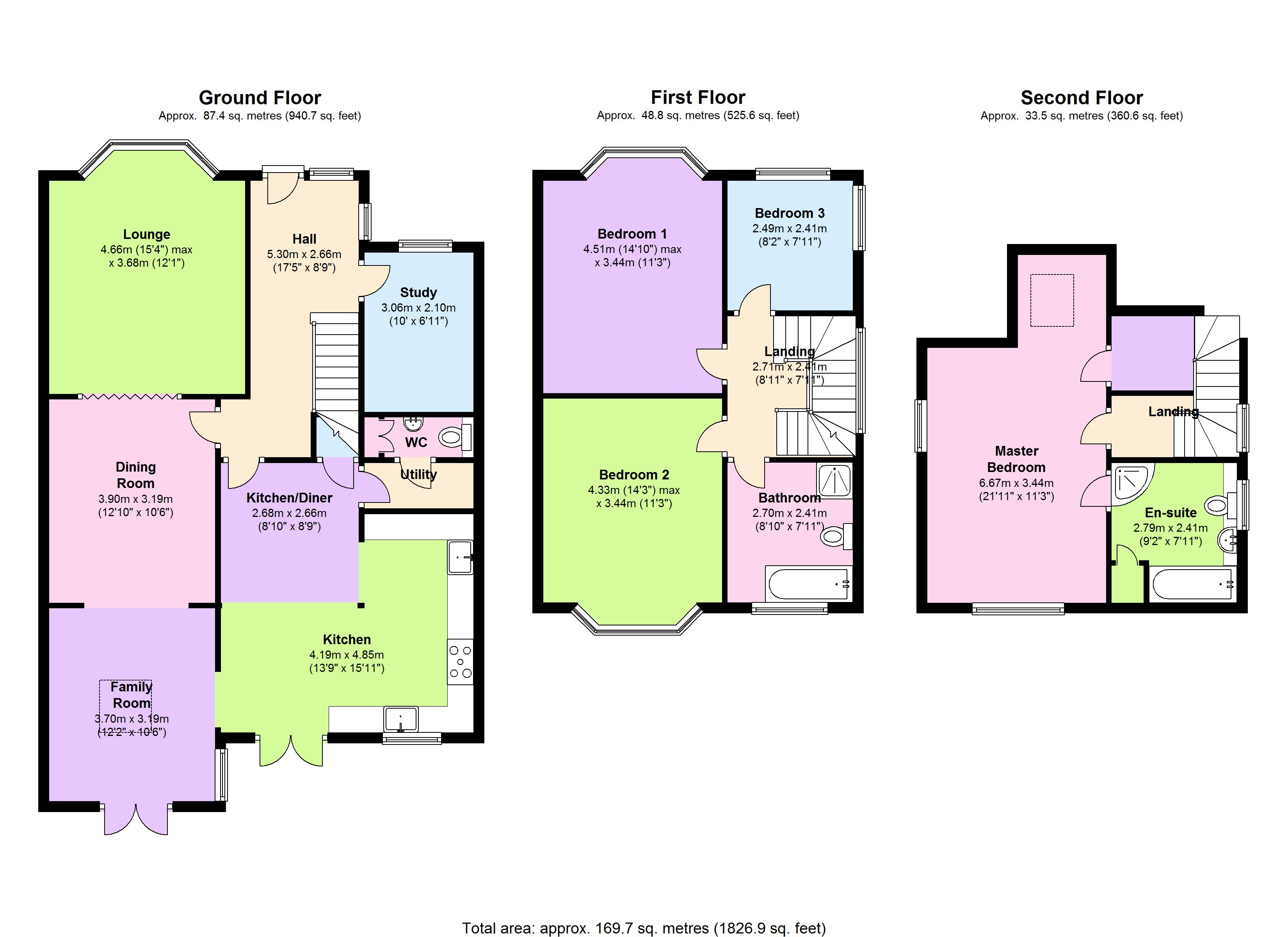 Sunny Hill, London, NW4 floor plan