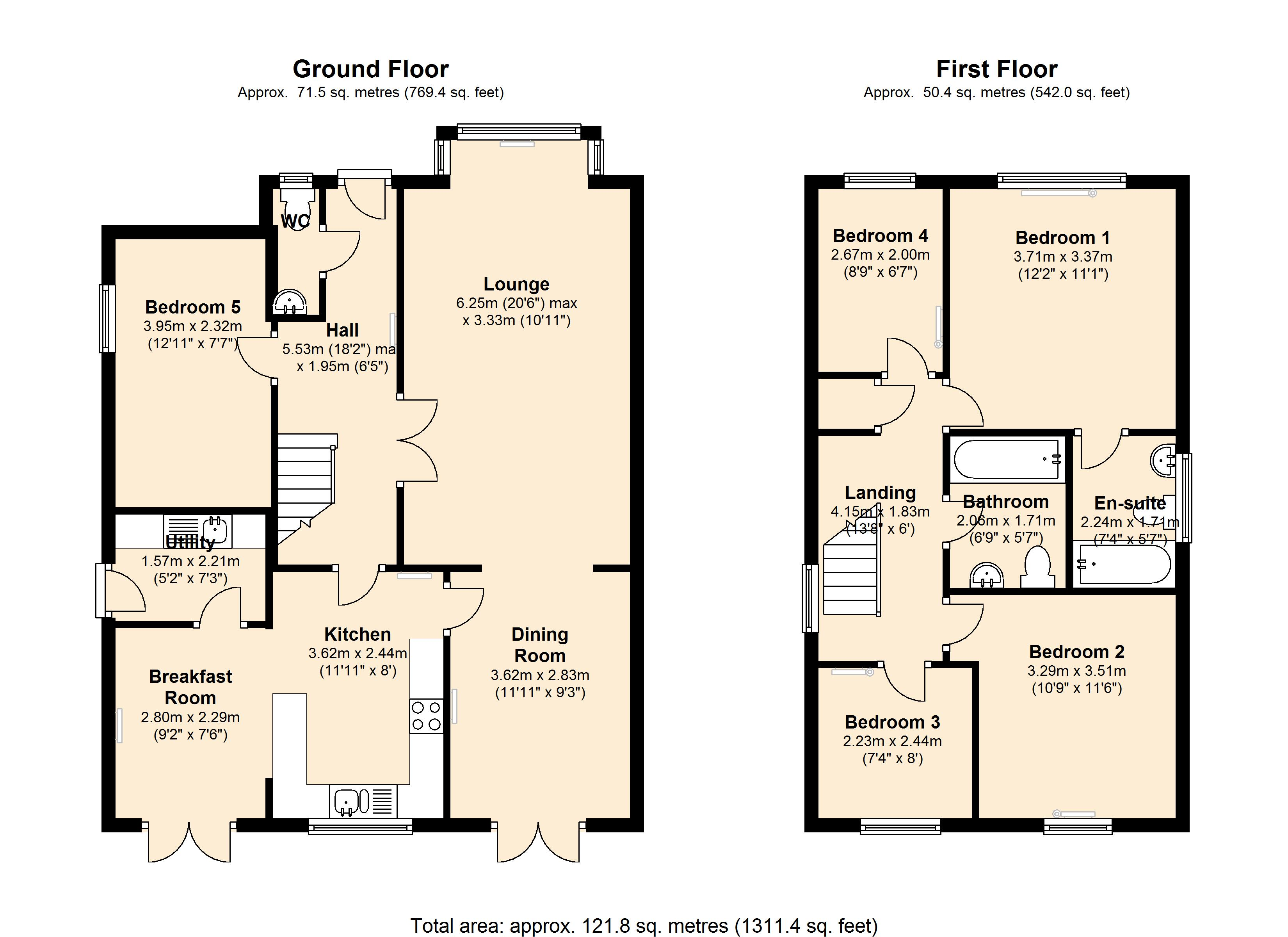 NORWOOD ROAD, CHESHUNT, EN8 floor plan