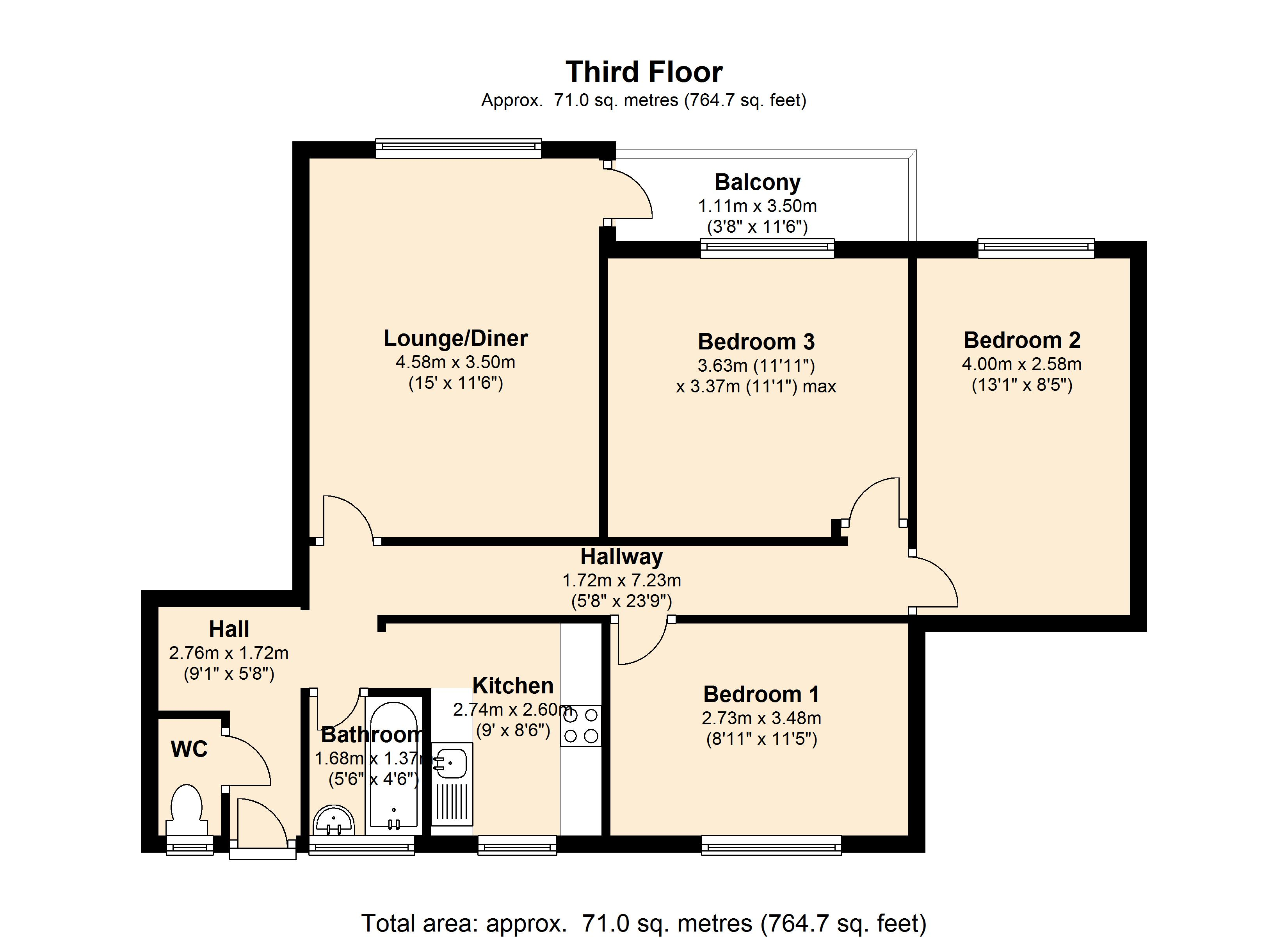 Priam House, Old Bethnal Green Road, London, E2 floor plan