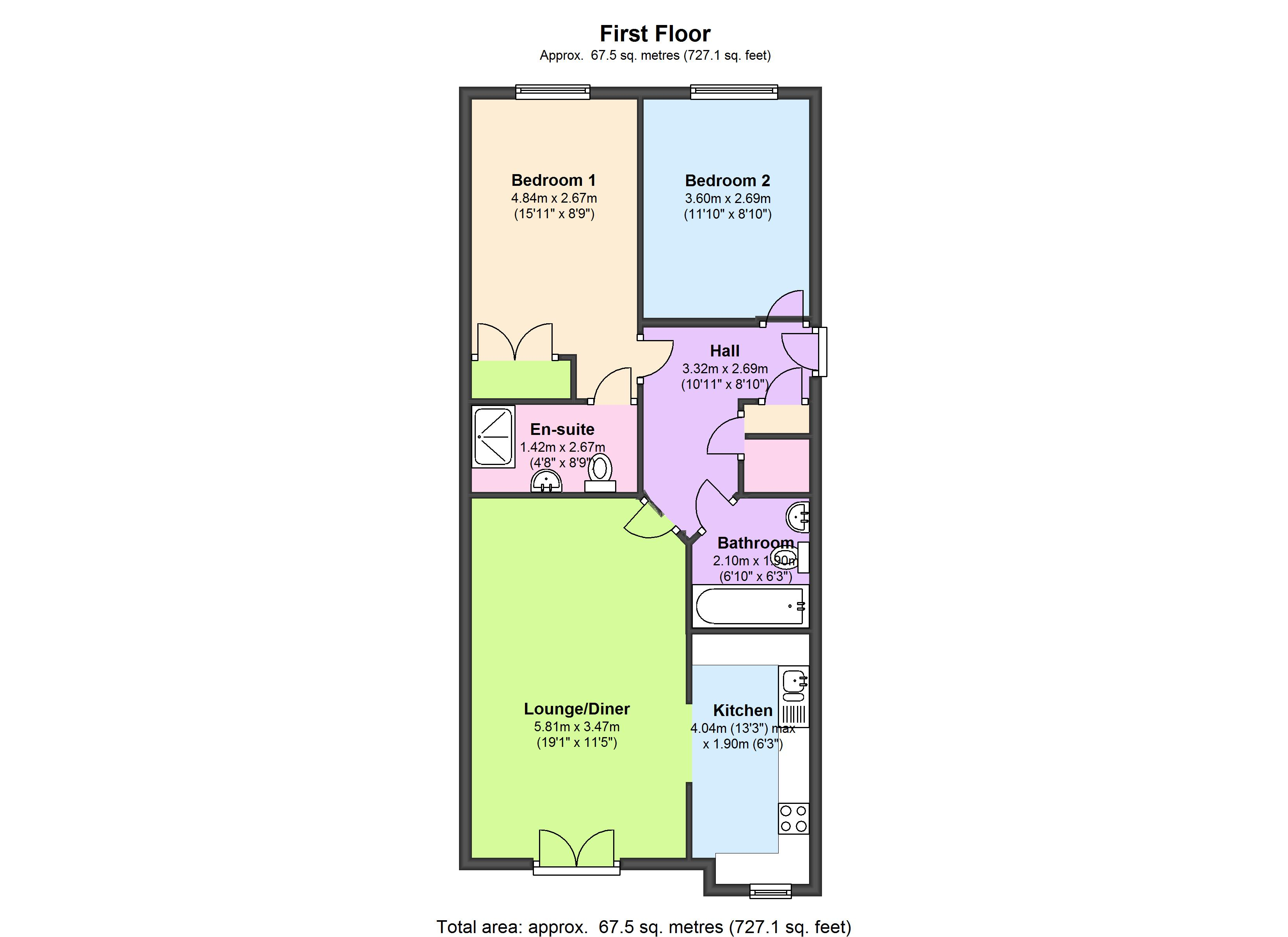 Herbert Mews, London, SW2 floor plan