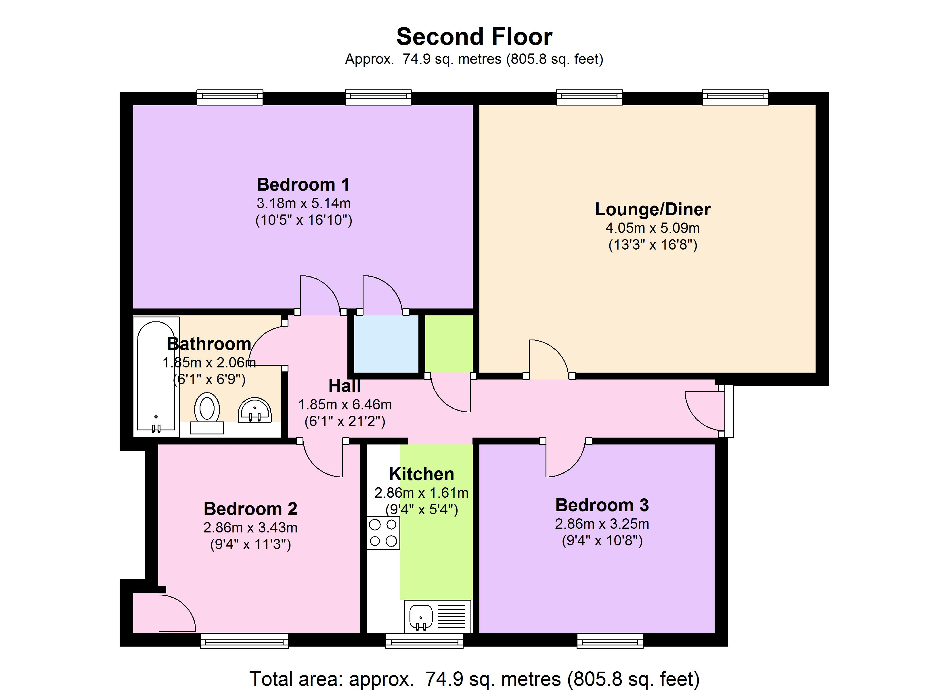 Tredegar Square, London, E3 floor plan