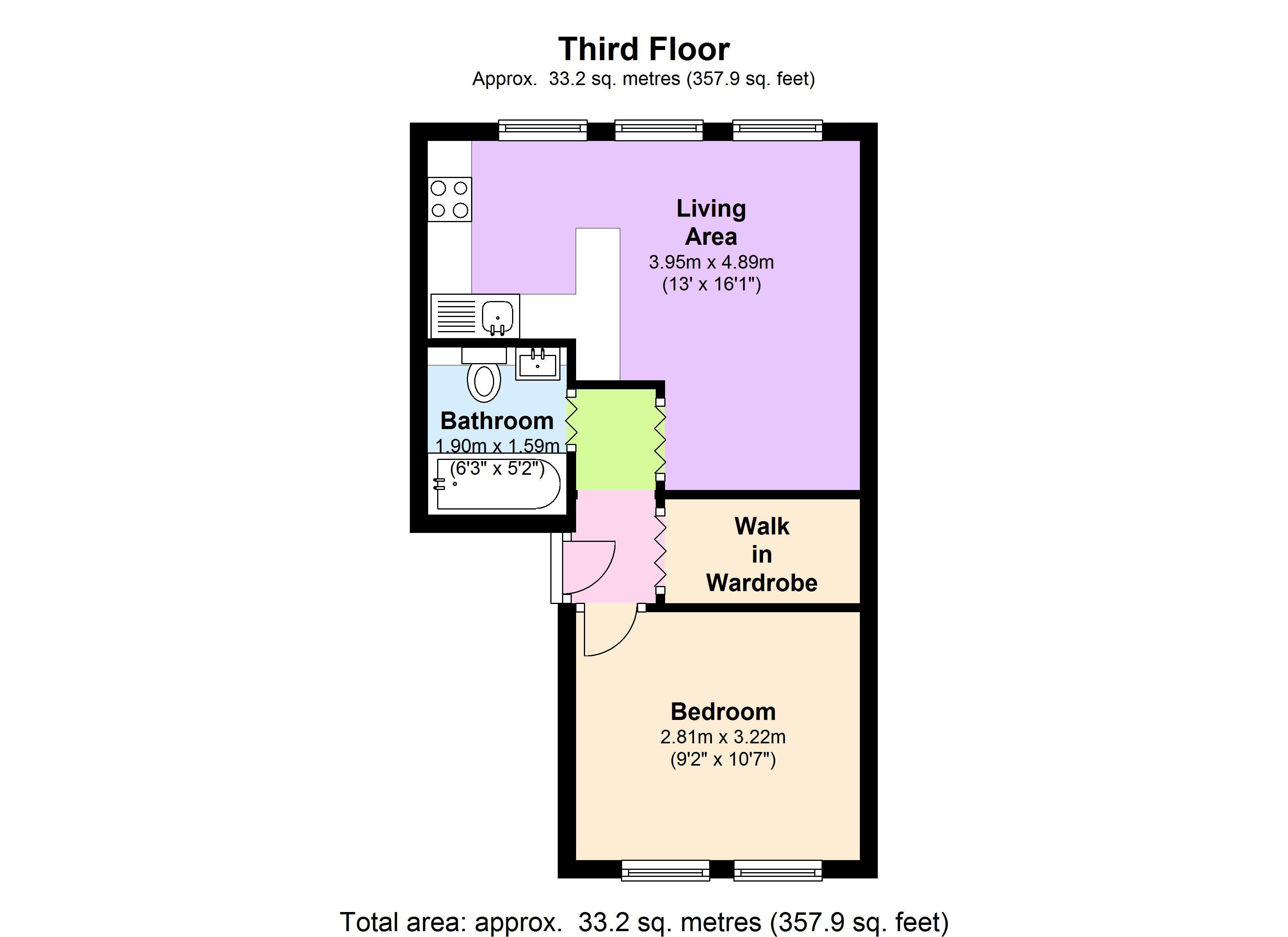 Cleveland Street, London, W1T floor plan