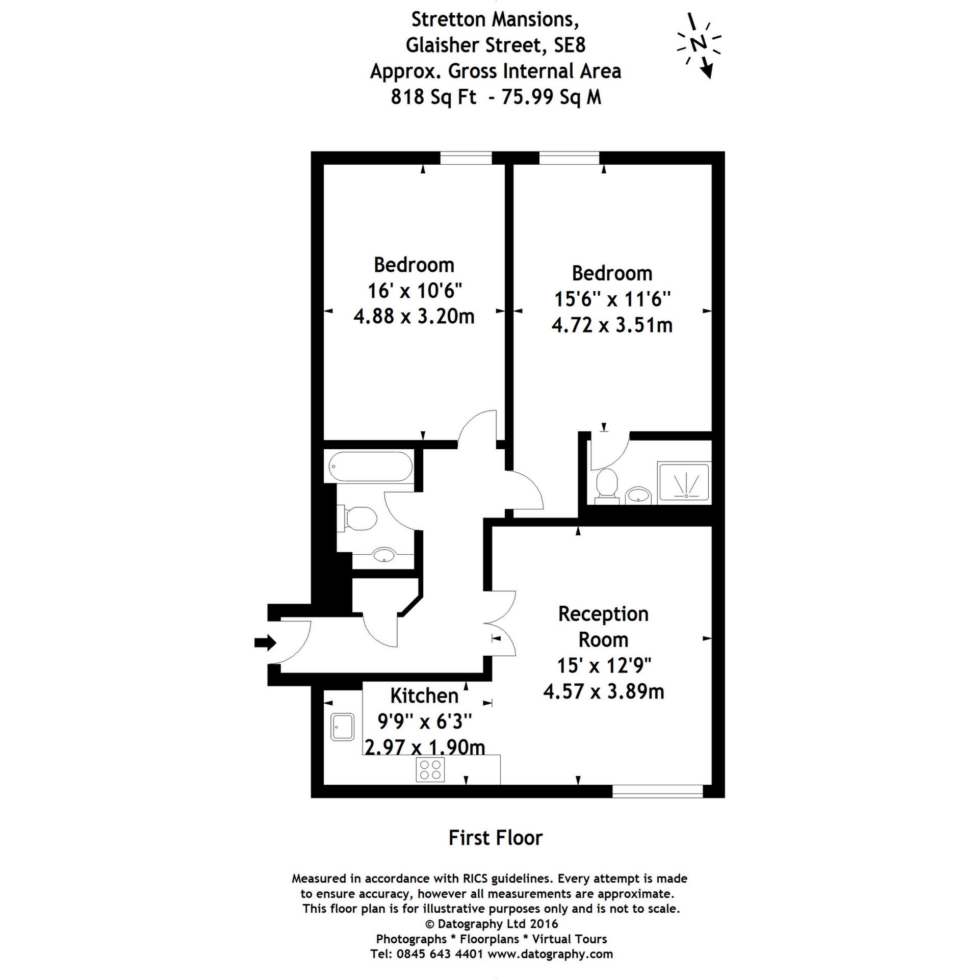 Stretton Mansions, Glaisher Street,  London, SE8 floor plan