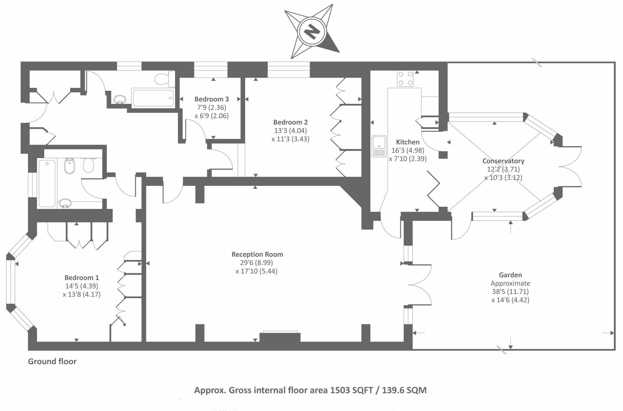 Langland Gardens, London, NW3 floor plan